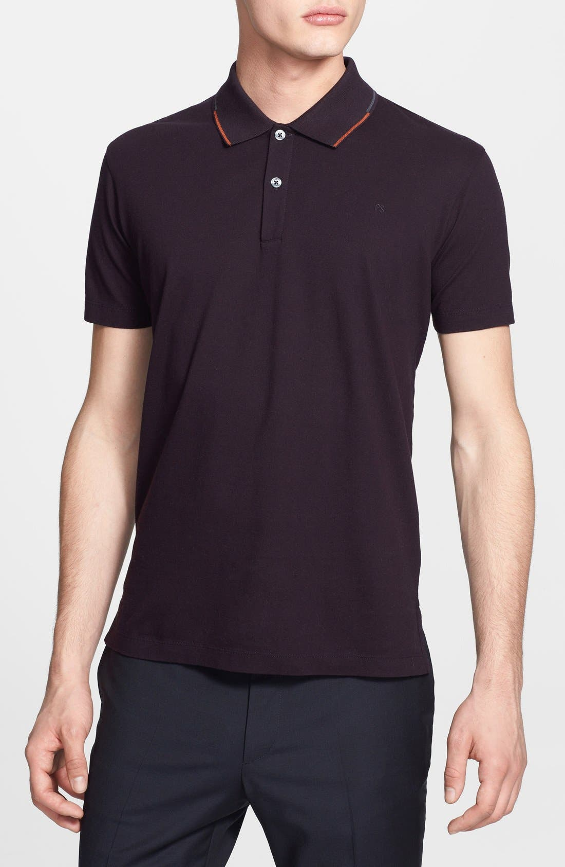 Main Image - PS Paul Smith Tipped Collar Jersey Polo