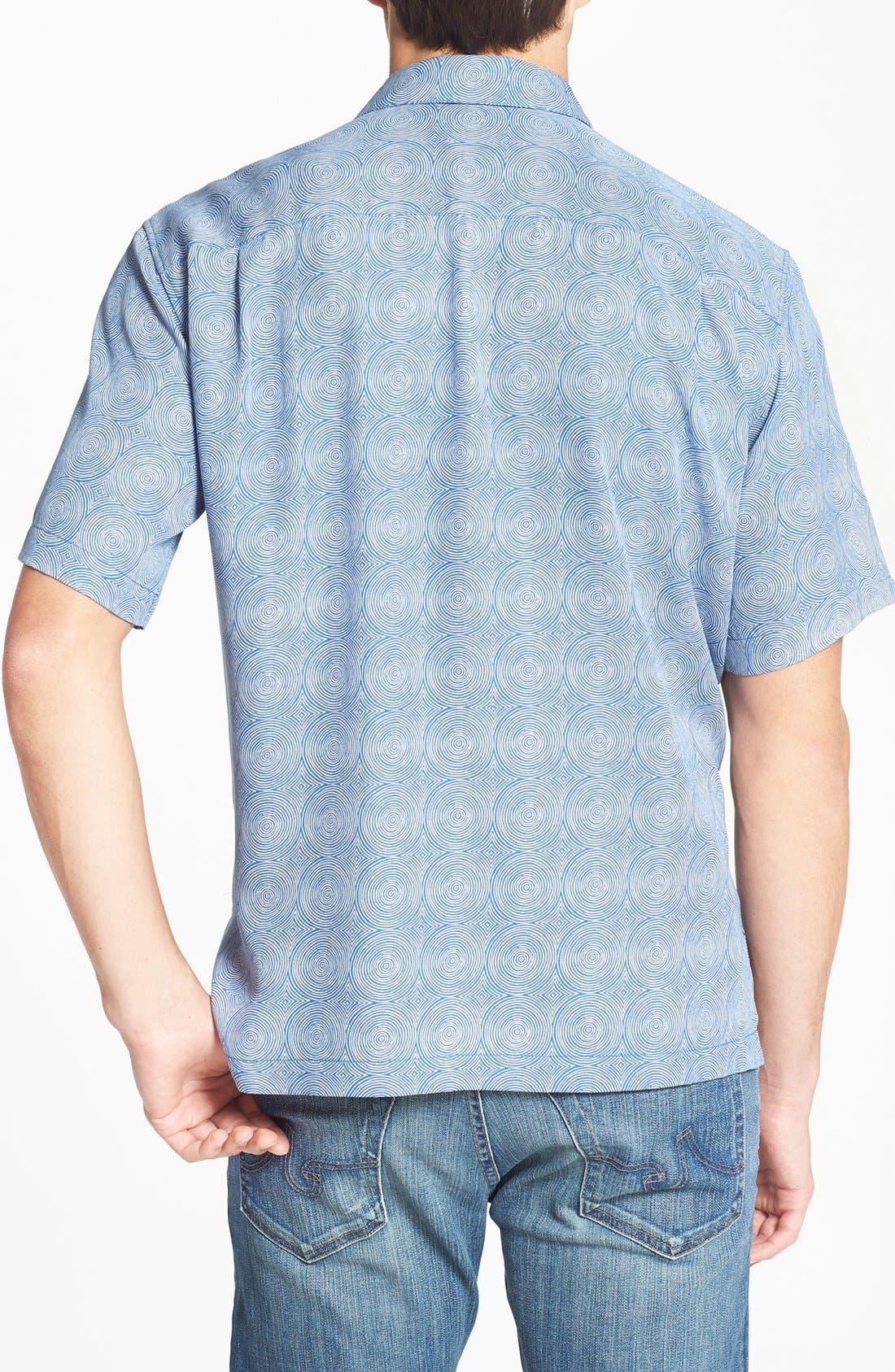 Alternate Image 2  - Tori Richard 'Trance' Classic Fit Short Sleeve Silk Blend Sport Shirt