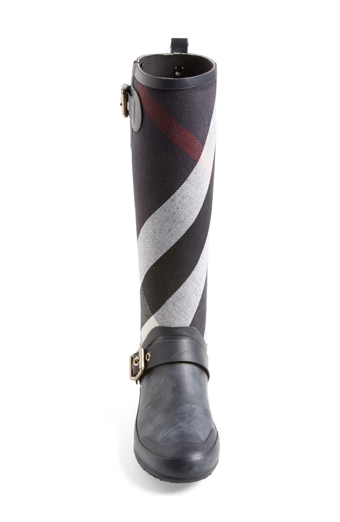 Alternate Image 3  - Burberry 'Birkback' Rain Boot (Women) (Wide Calf)