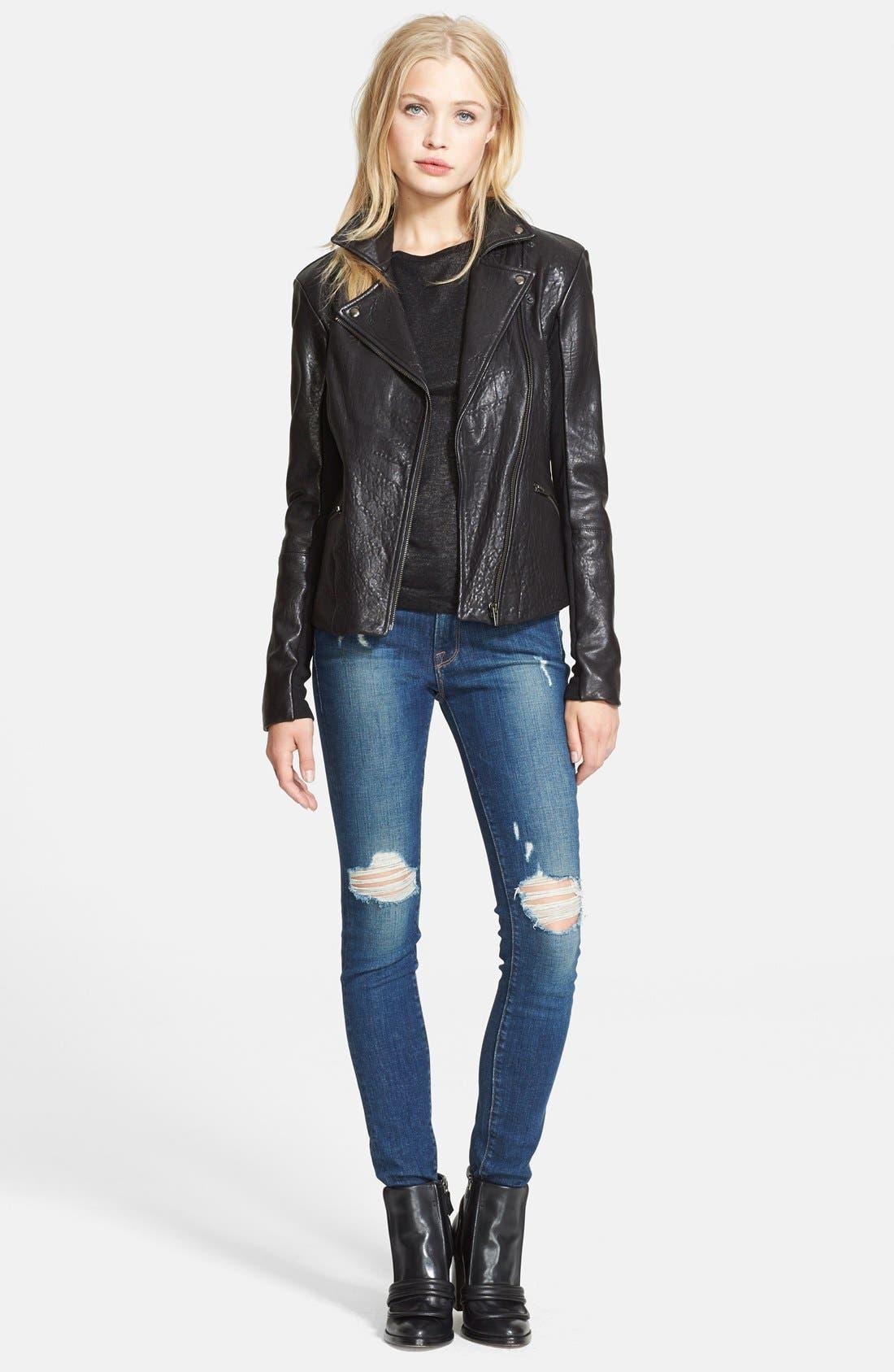 Main Image - Veda 'Dallas' Embossed Leather Jacket