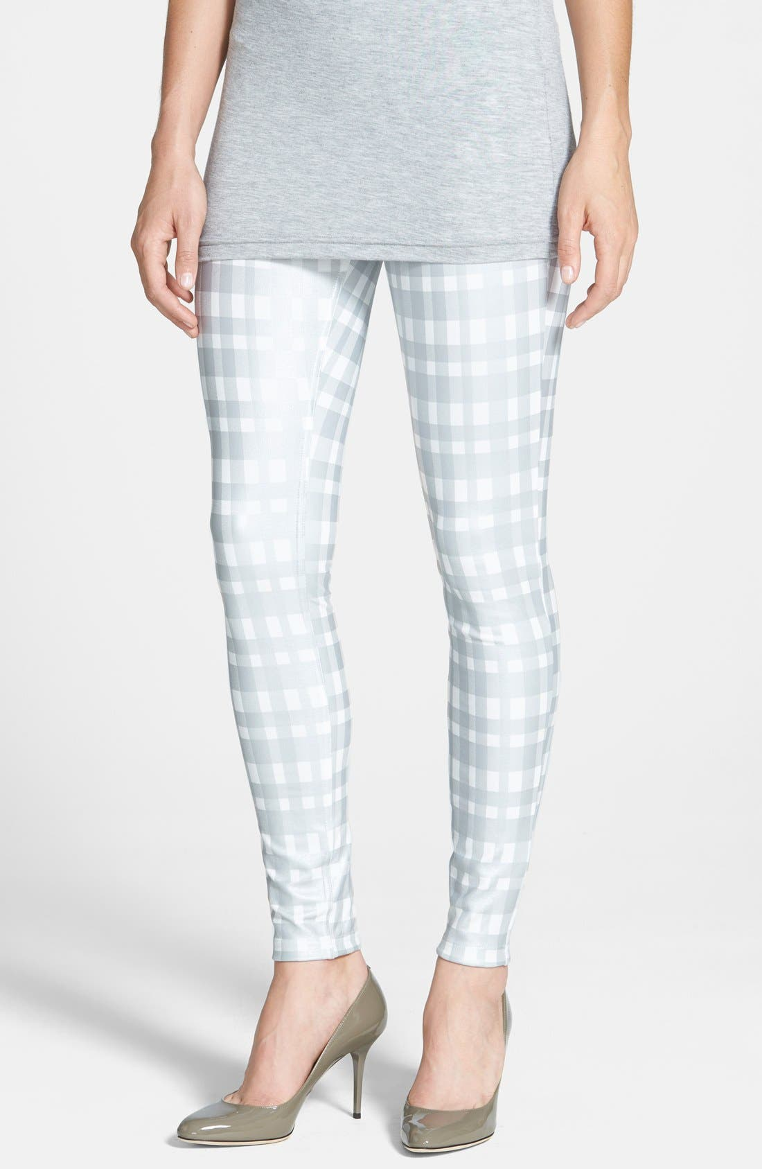 Alternate Image 1 Selected - Hue Plaid Print Ponte Leggings