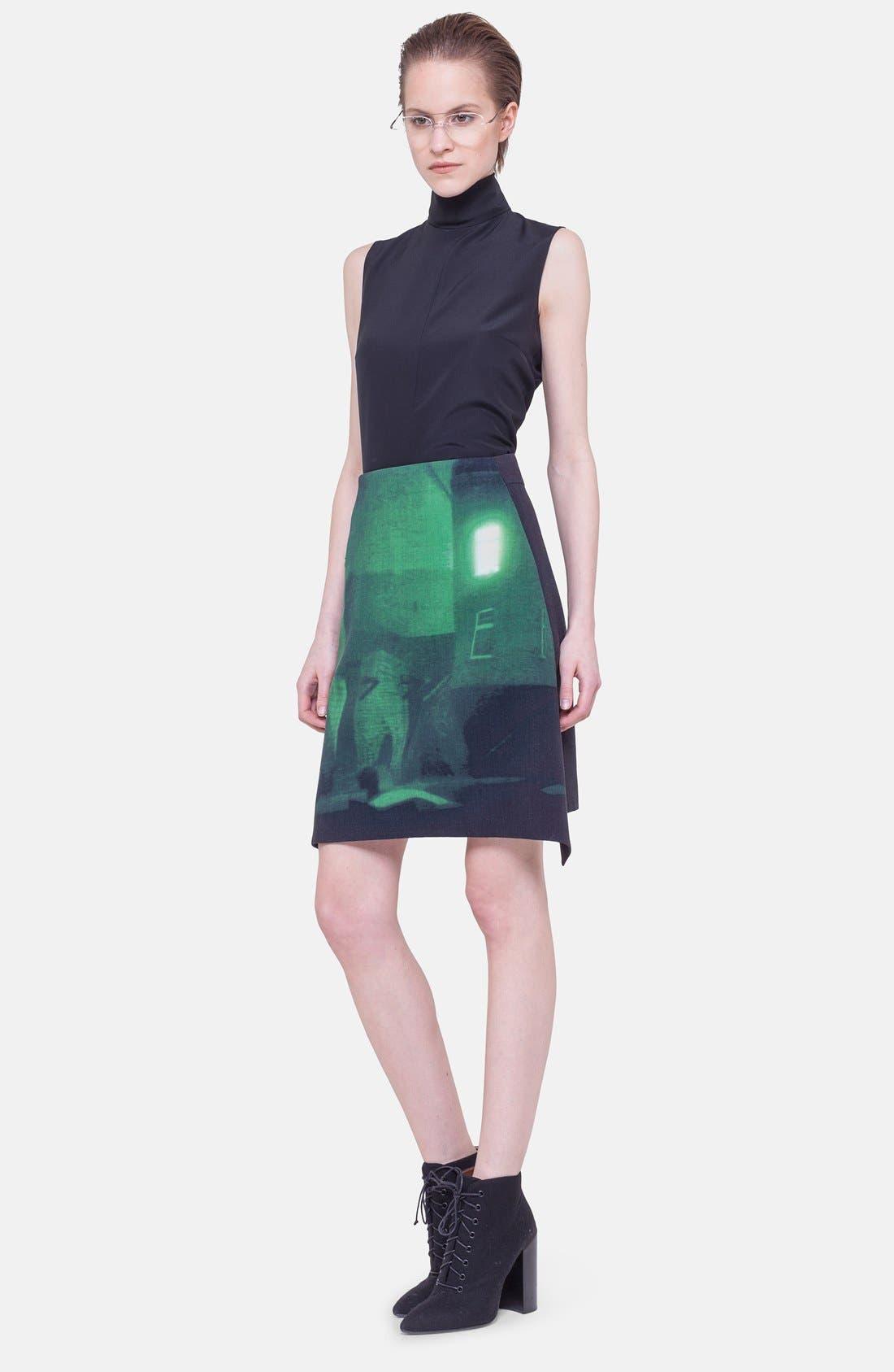 Alternate Image 3  - Akris Print Double Face Wool Blend Skirt