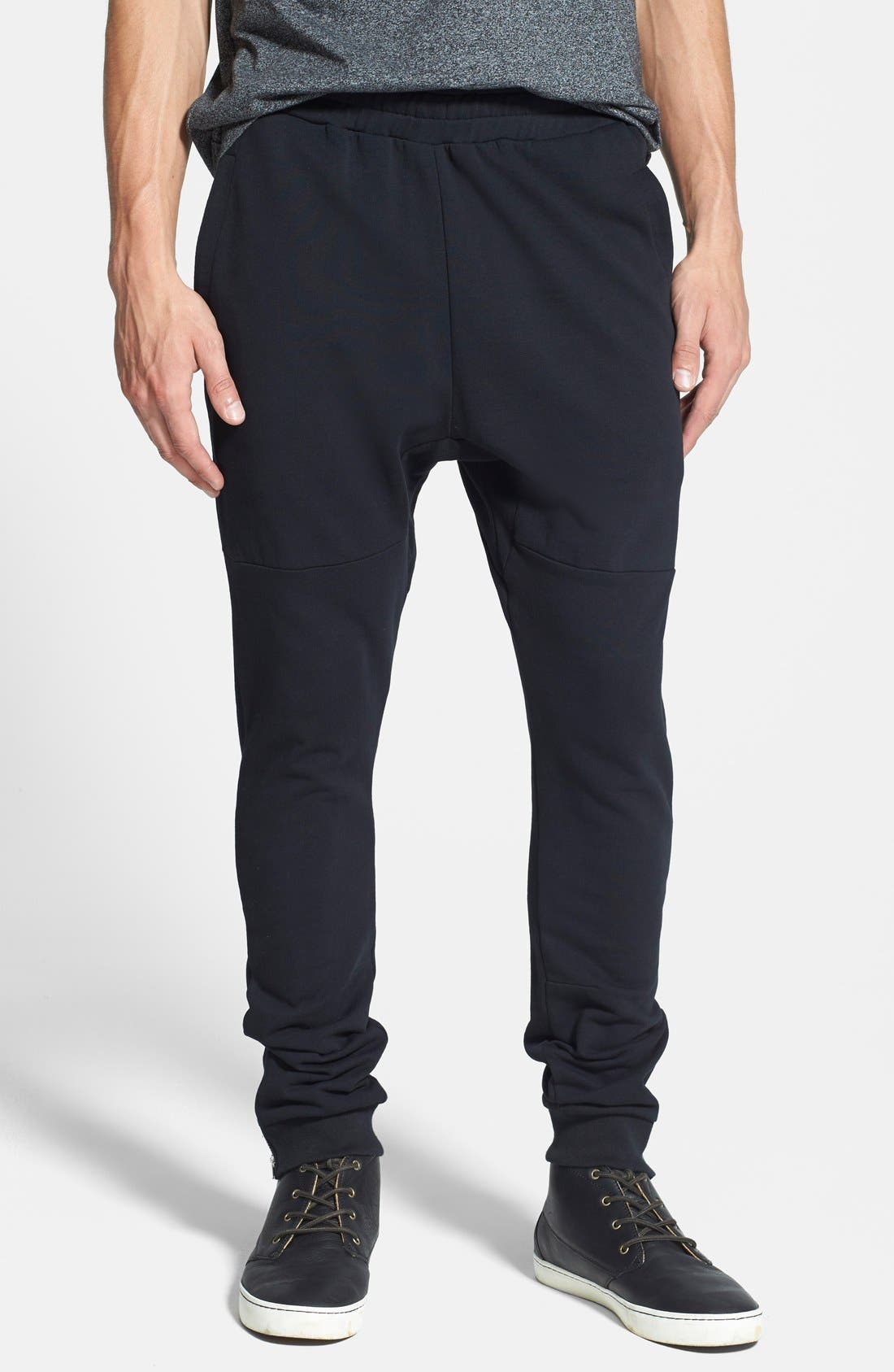 Alternate Image 1 Selected - Topman Zip Hem Jogger Pants