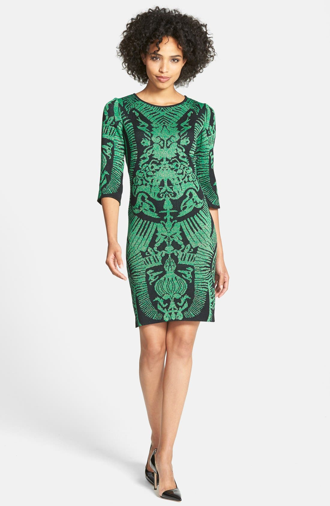 Main Image - Ming Wang Jacquard Knit Sheath Dress