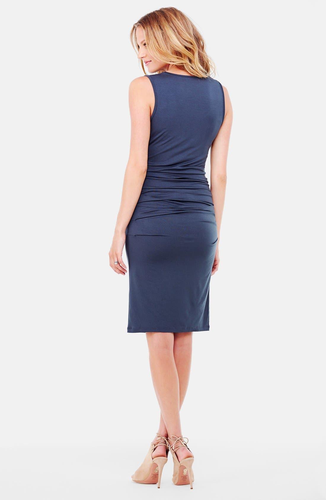 Alternate Image 2  - Ingrid & Isabel® Ruched Maternity Tank Dress