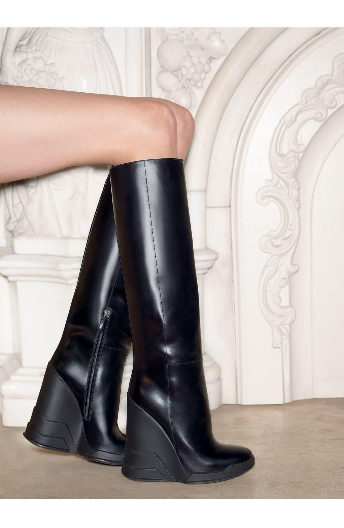 Alternate Image 5  - Prada Knee High Wedge Boot (Women)