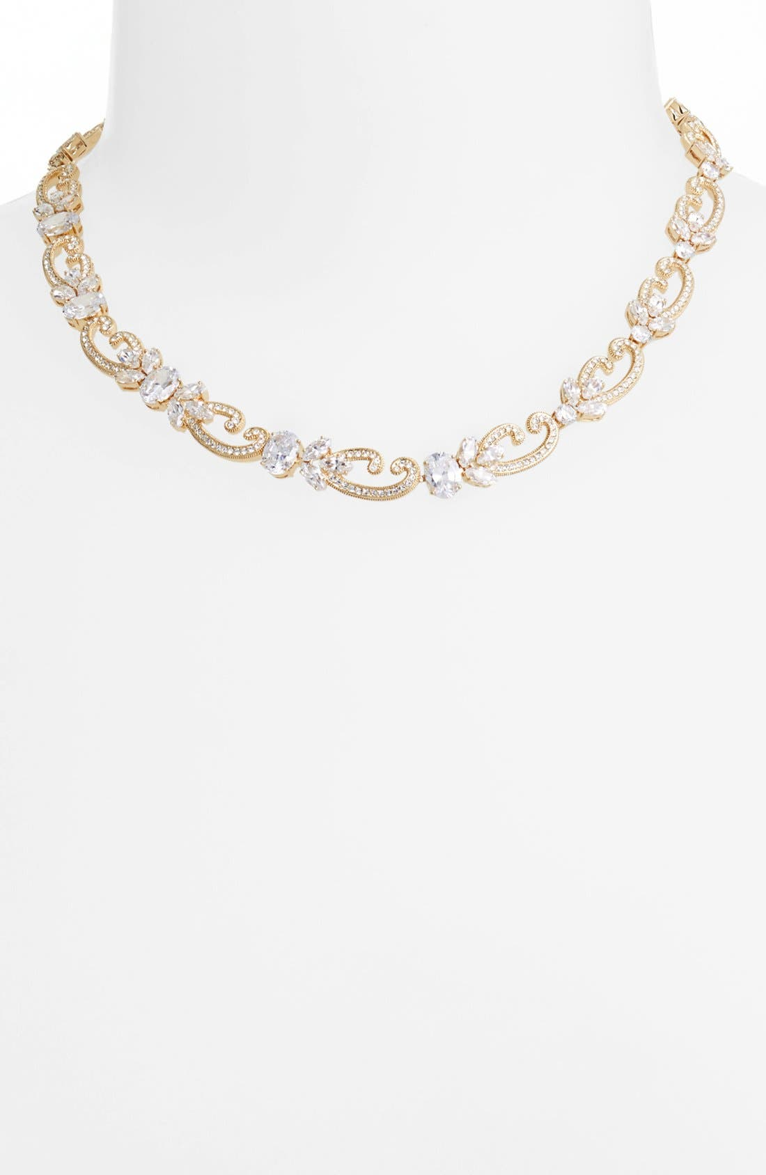 Main Image - Nadri Crystal Scroll Collar Necklace