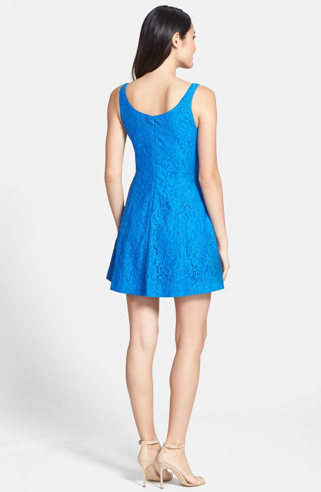 Alternate Image 2  - CeCe by Cynthia Steffe 'Dustin' Lace Fit & Flare Dress