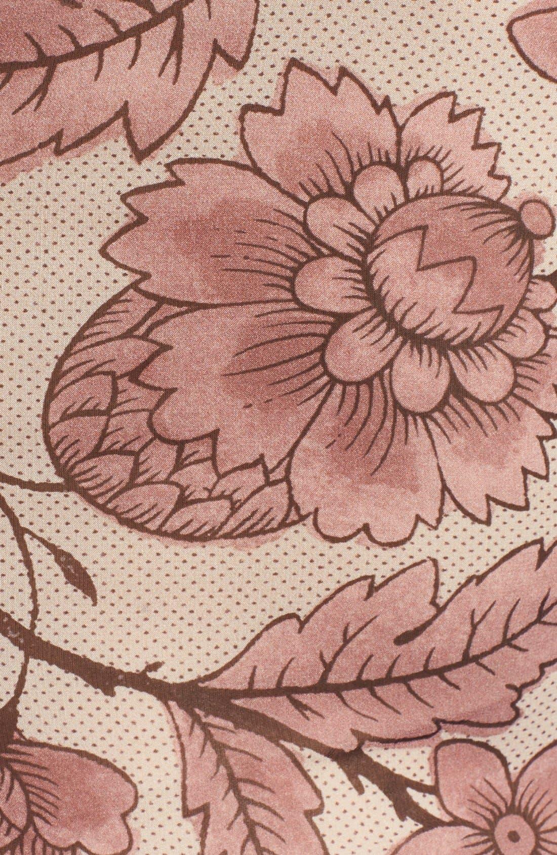 Alternate Image 3  - Burberry Prorsum Washed Silk Midi Dress