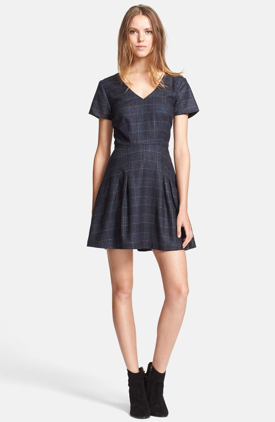 Main Image - Joie 'Raley' Plaid Fit & Flare Dress