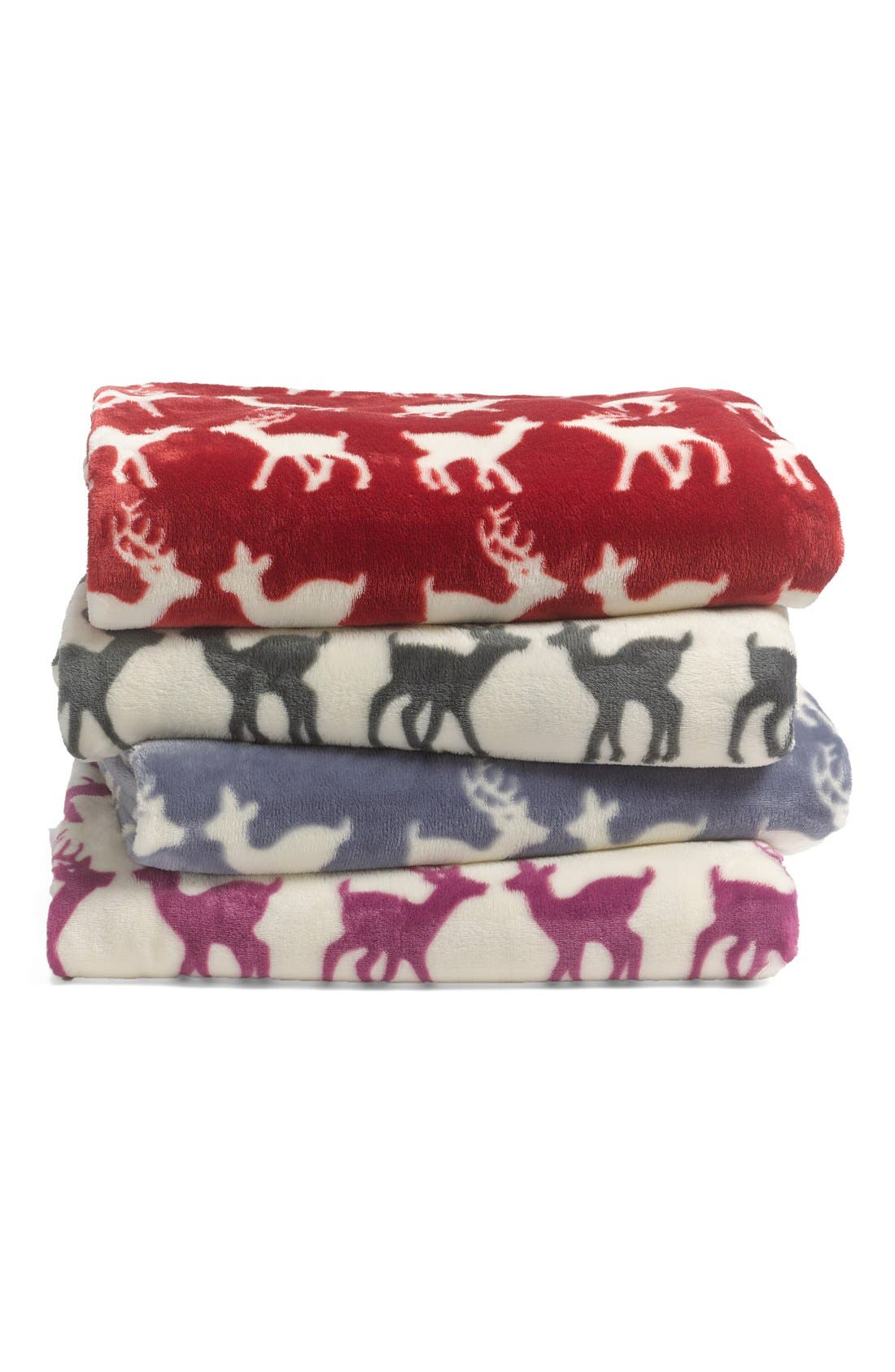 Alternate Image 2  - Nordstrom at Home 'Deer Date' Plush Throw