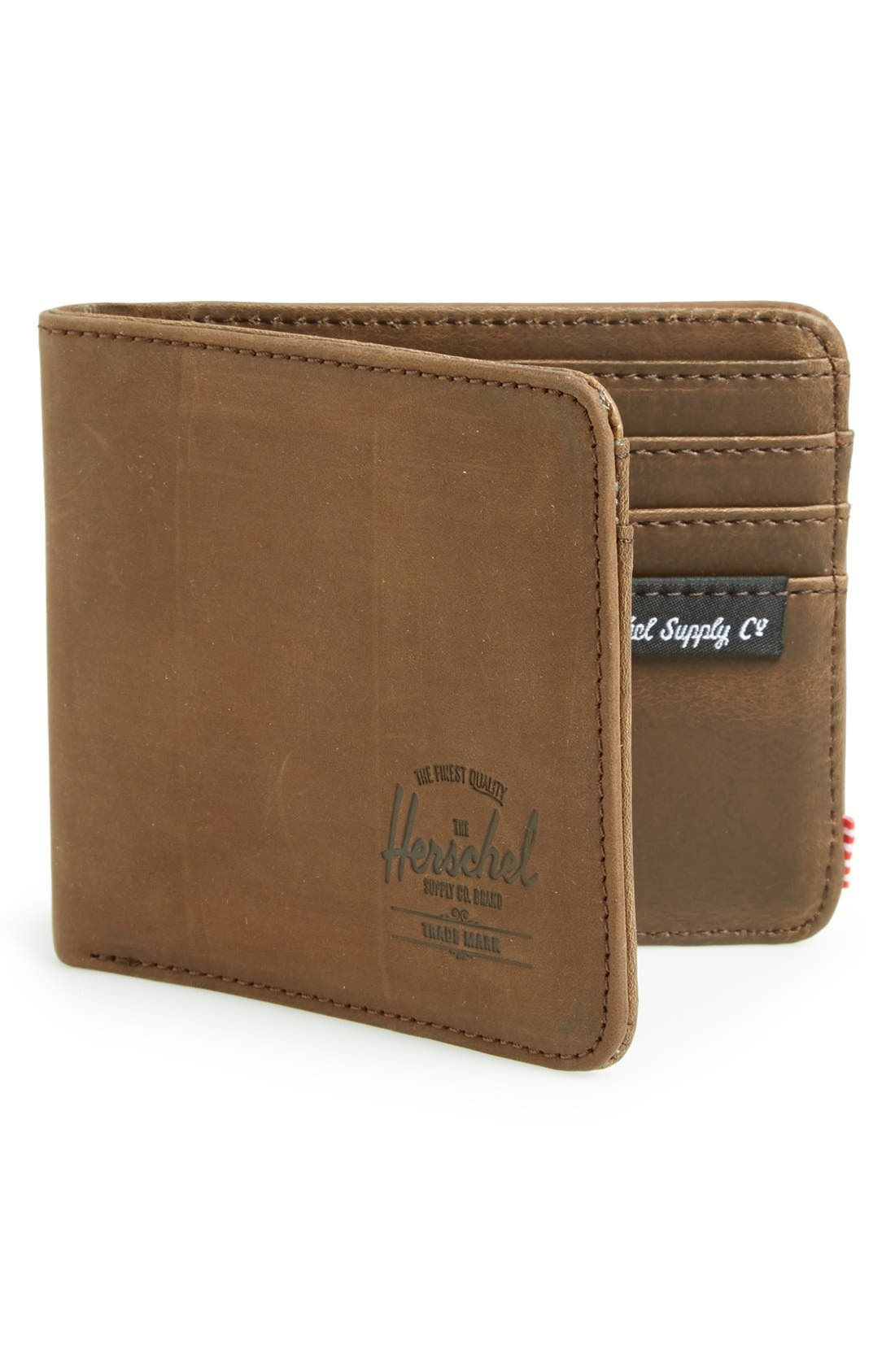 Alternate Image 1 Selected - Herschel Supply Co. Hank Leather Bifold Wallet
