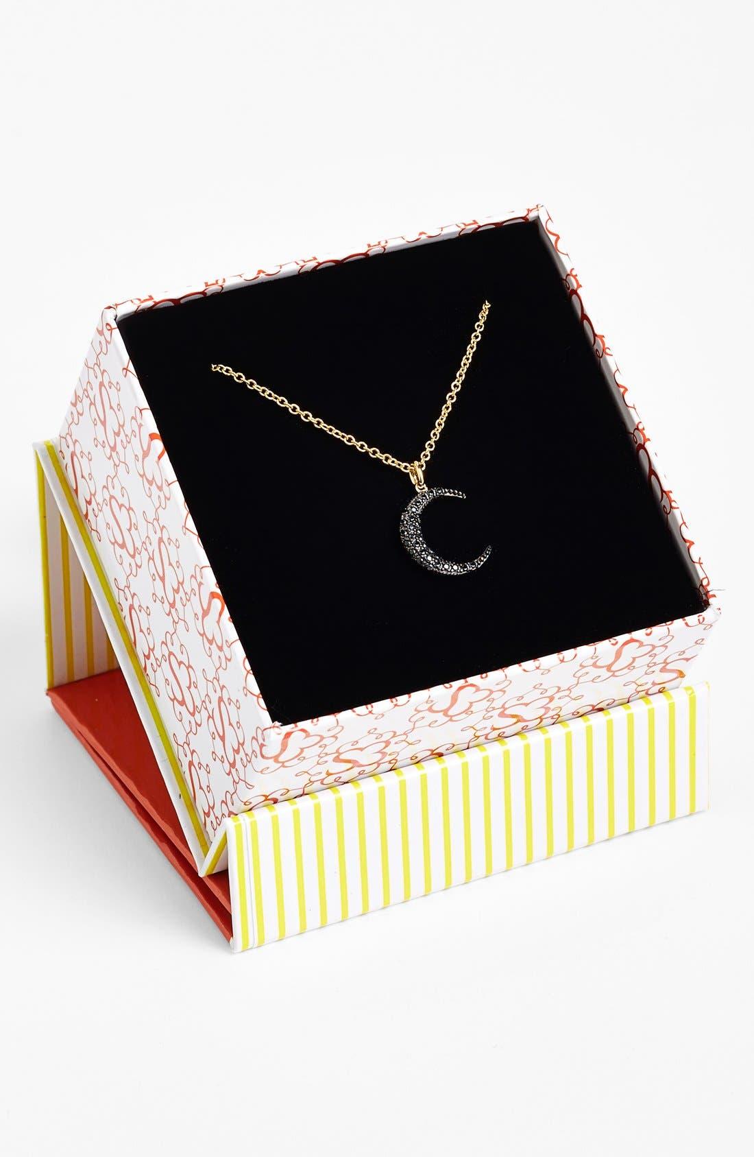 Alternate Image 2  - Sugar Bean Jewelry Pavé Crescent Pendant Necklace