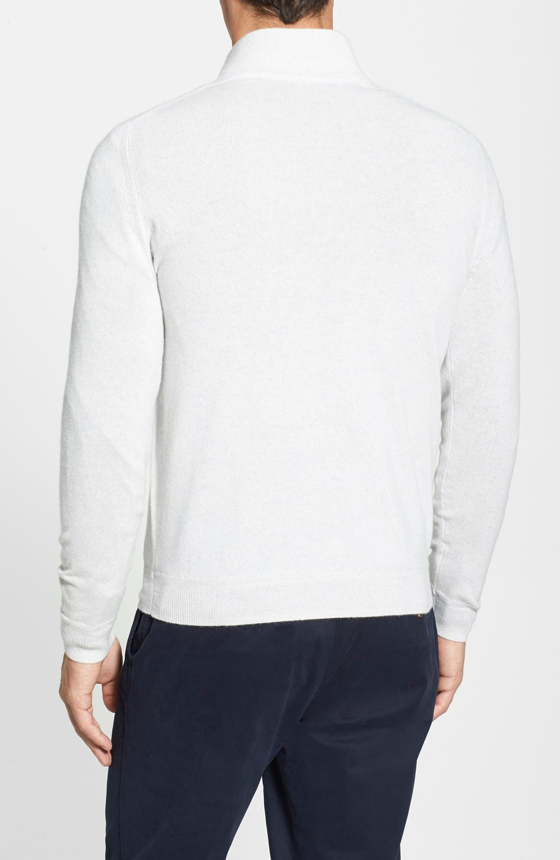 Alternate Image 2  - John W. Nordstrom® Half Zip Cashmere Sweater