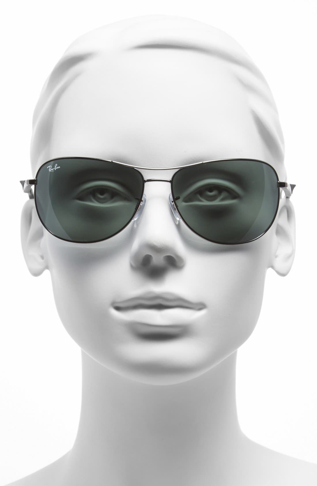 Alternate Image 2  - Ray-Ban 62mm Steel Aviator Sunglasses