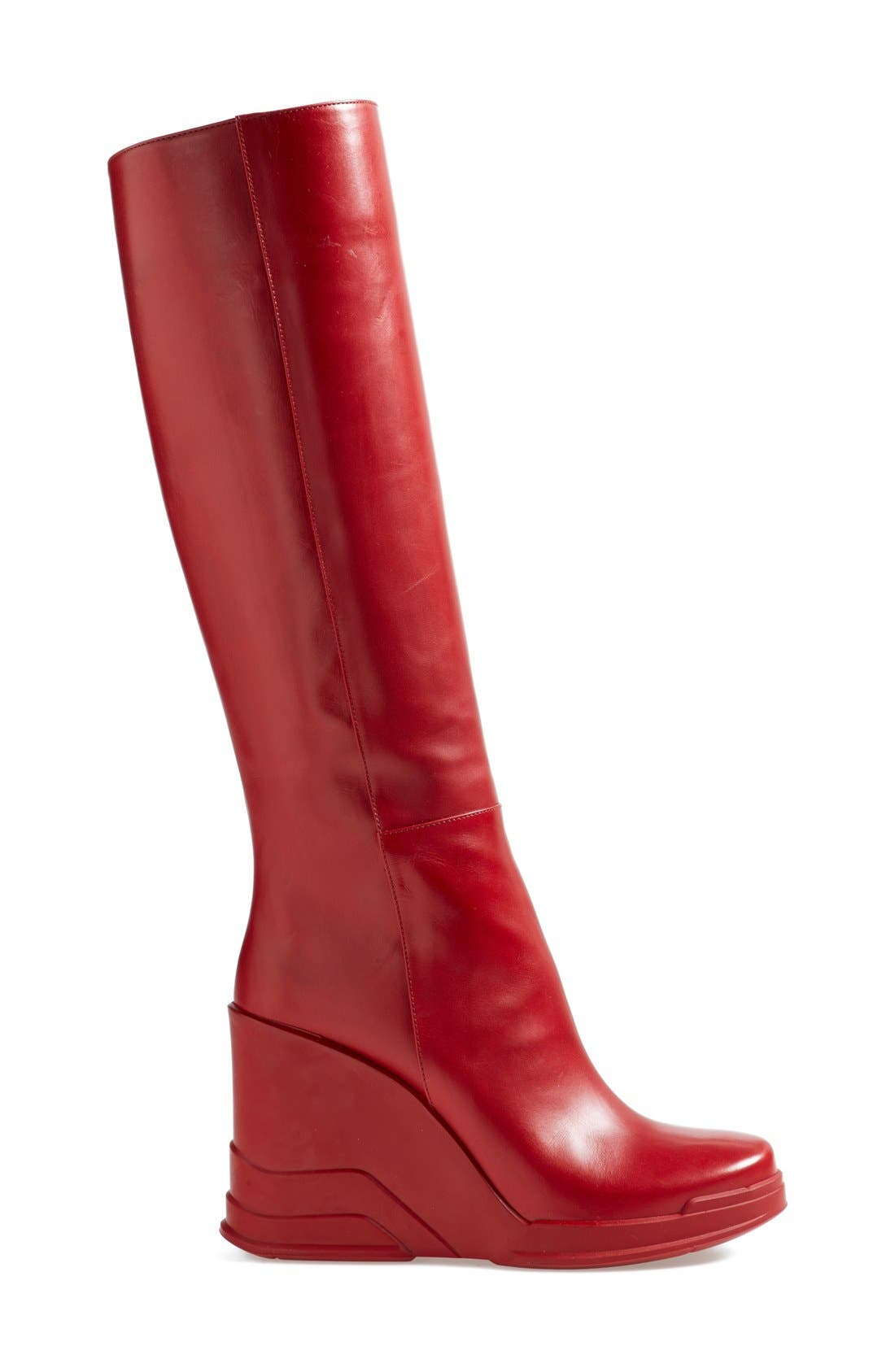 Alternate Image 4  - Prada Knee High Wedge Boot (Women)