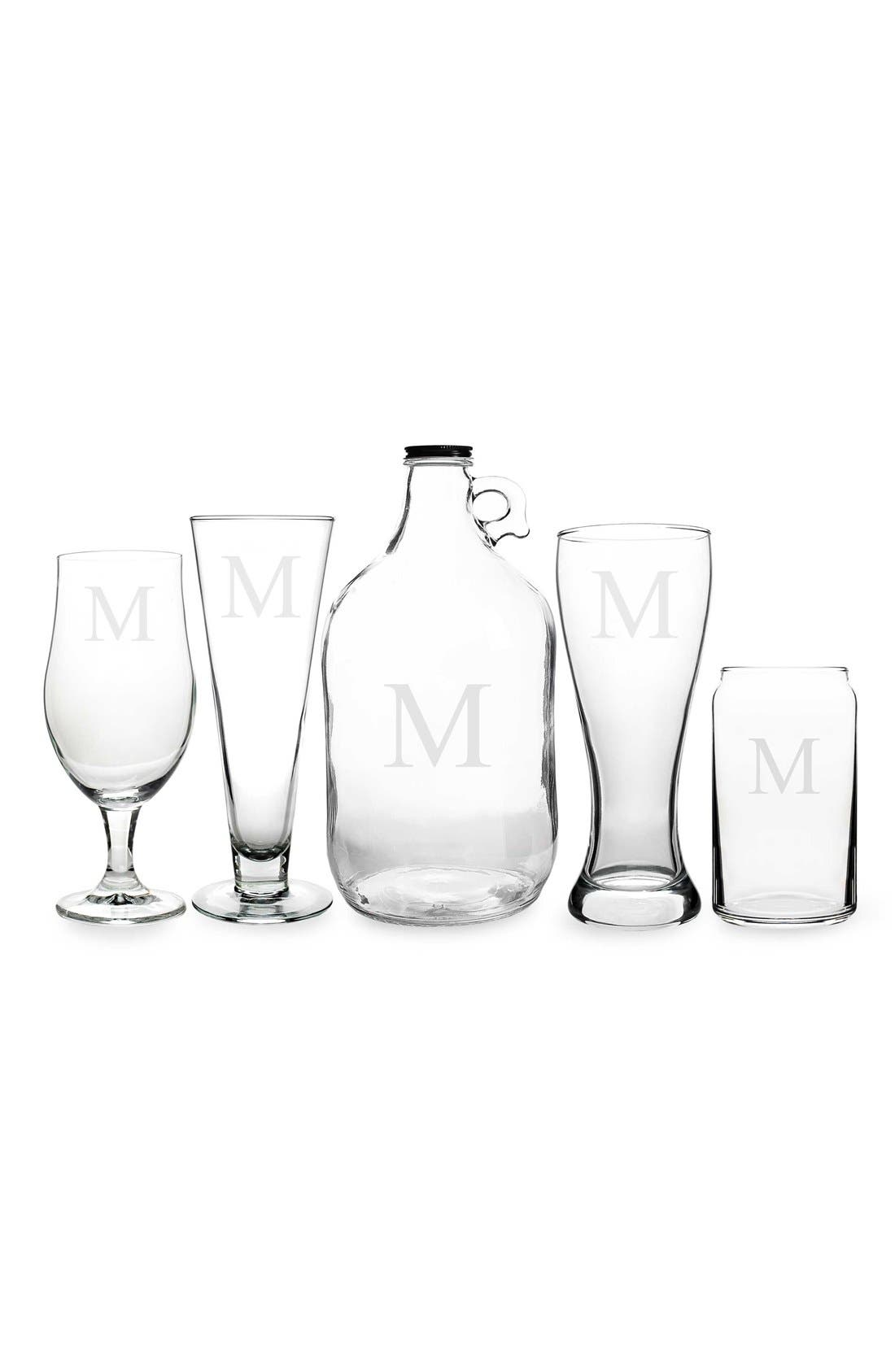 Alternate Image 1 Selected - Cathy's Concepts Monogram Craft Beer Set (Set of 5)