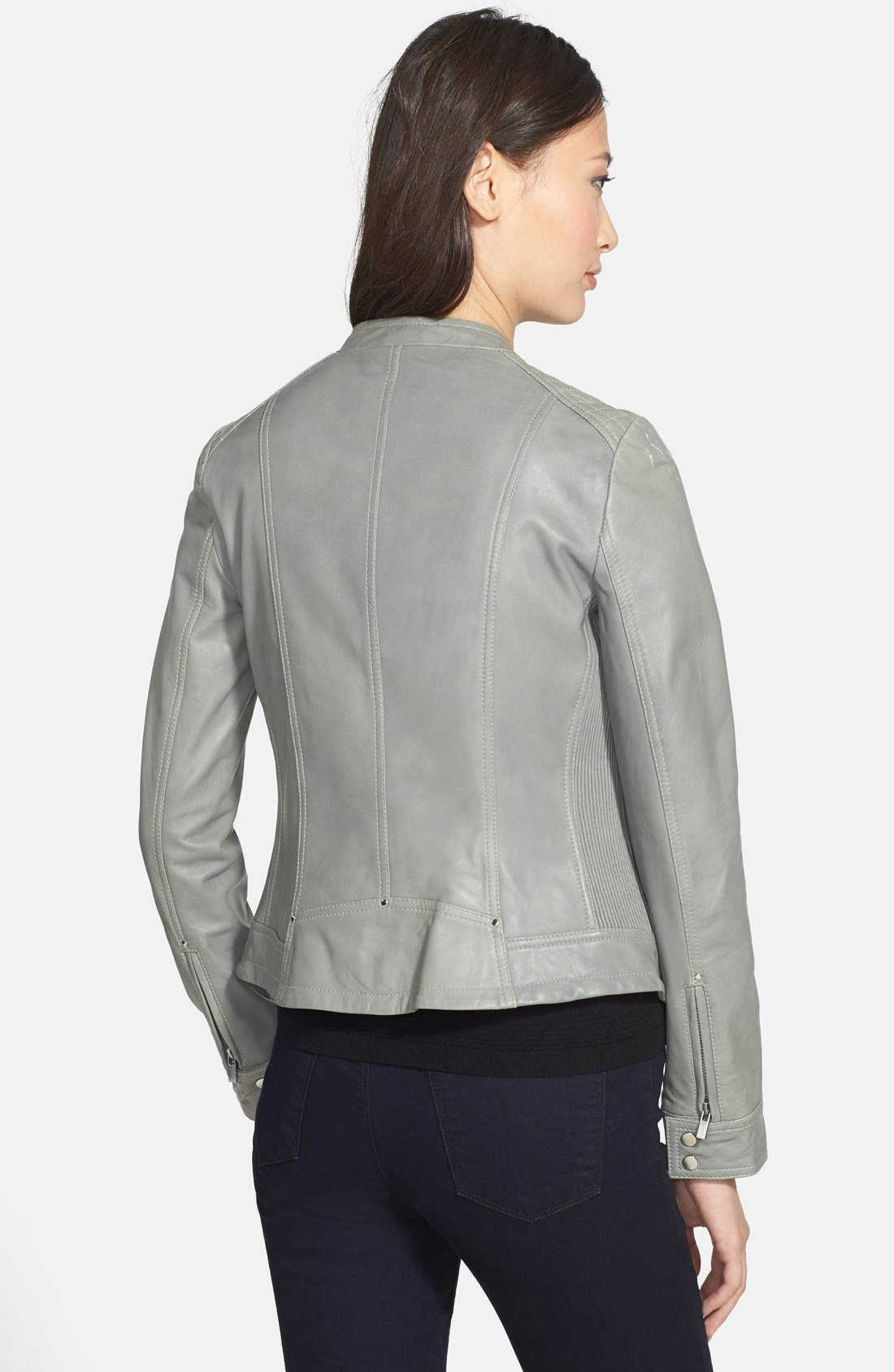 Alternate Image 2  - LaMarque Quilted Leather Jacket