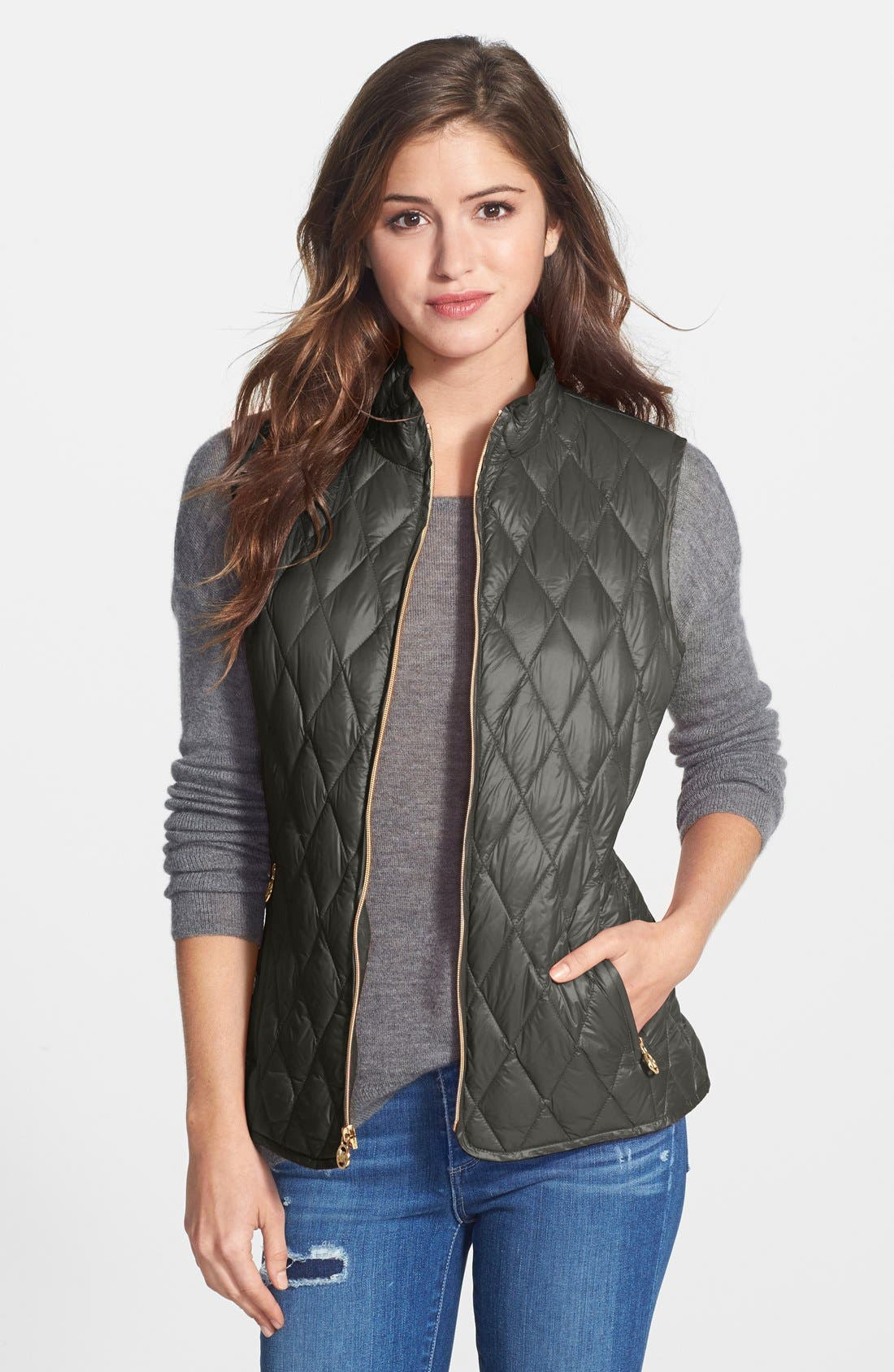 Alternate Image 1 Selected - MICHAEL Michael Kors Quilted Down Vest