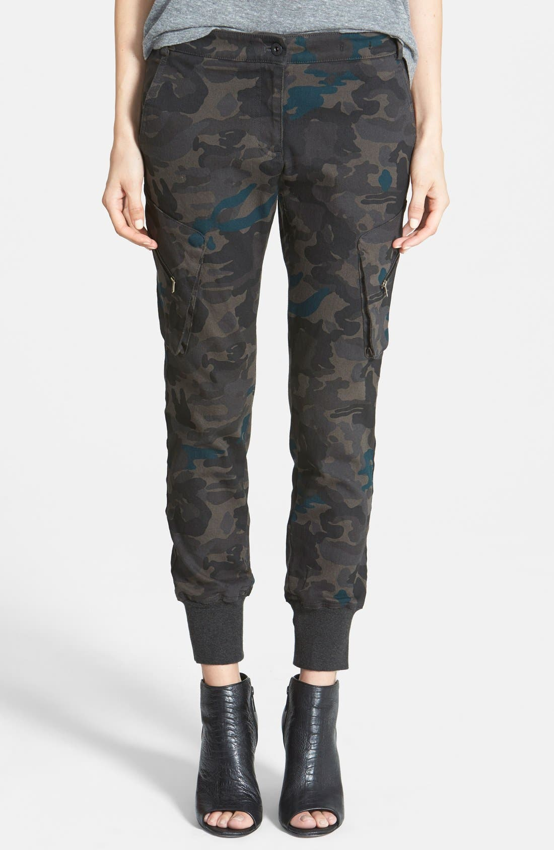 Alternate Image 1 Selected - James Jeans Slouchy Camouflage Cargo Pants