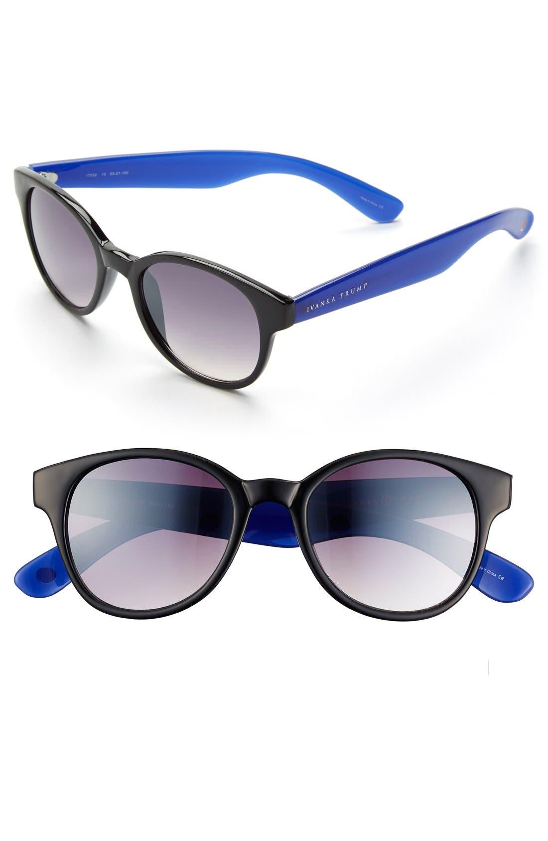 Alternate Image 1 Selected - Ivanka Trump 50mm Keyhole Sunglasses