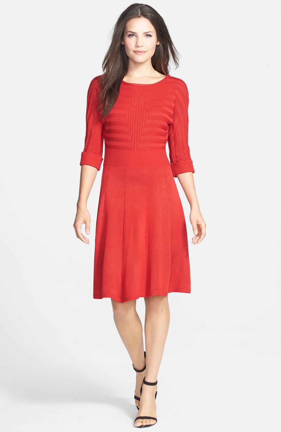 Alternate Image 3  - Eliza J Fit & Flare Sweater Dress