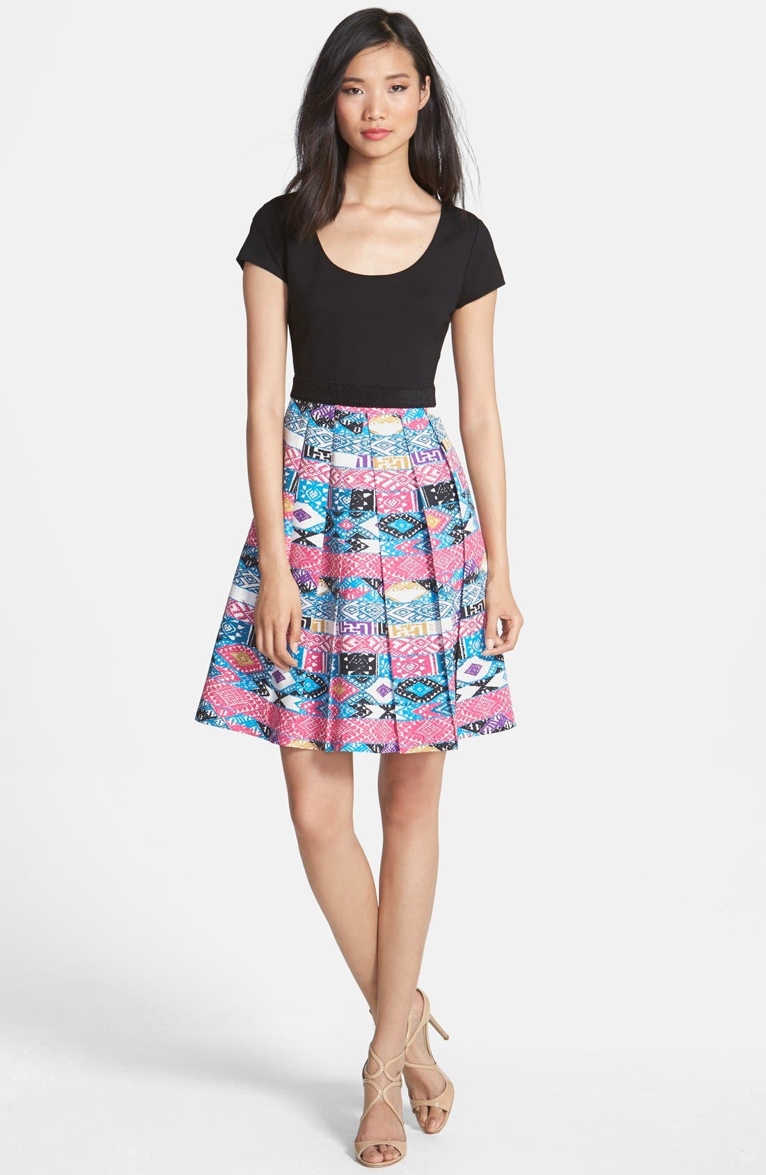Alternate Image 1 Selected - Plenty by Tracy Reese 'Zoe' Print Skirt Fit & Flare Dress (Petite)
