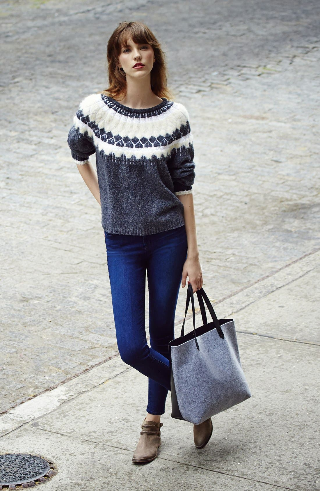 Alternate Image 4  - J Brand 'Maria' High Rise Skinny Jeans (Maria Destiny)