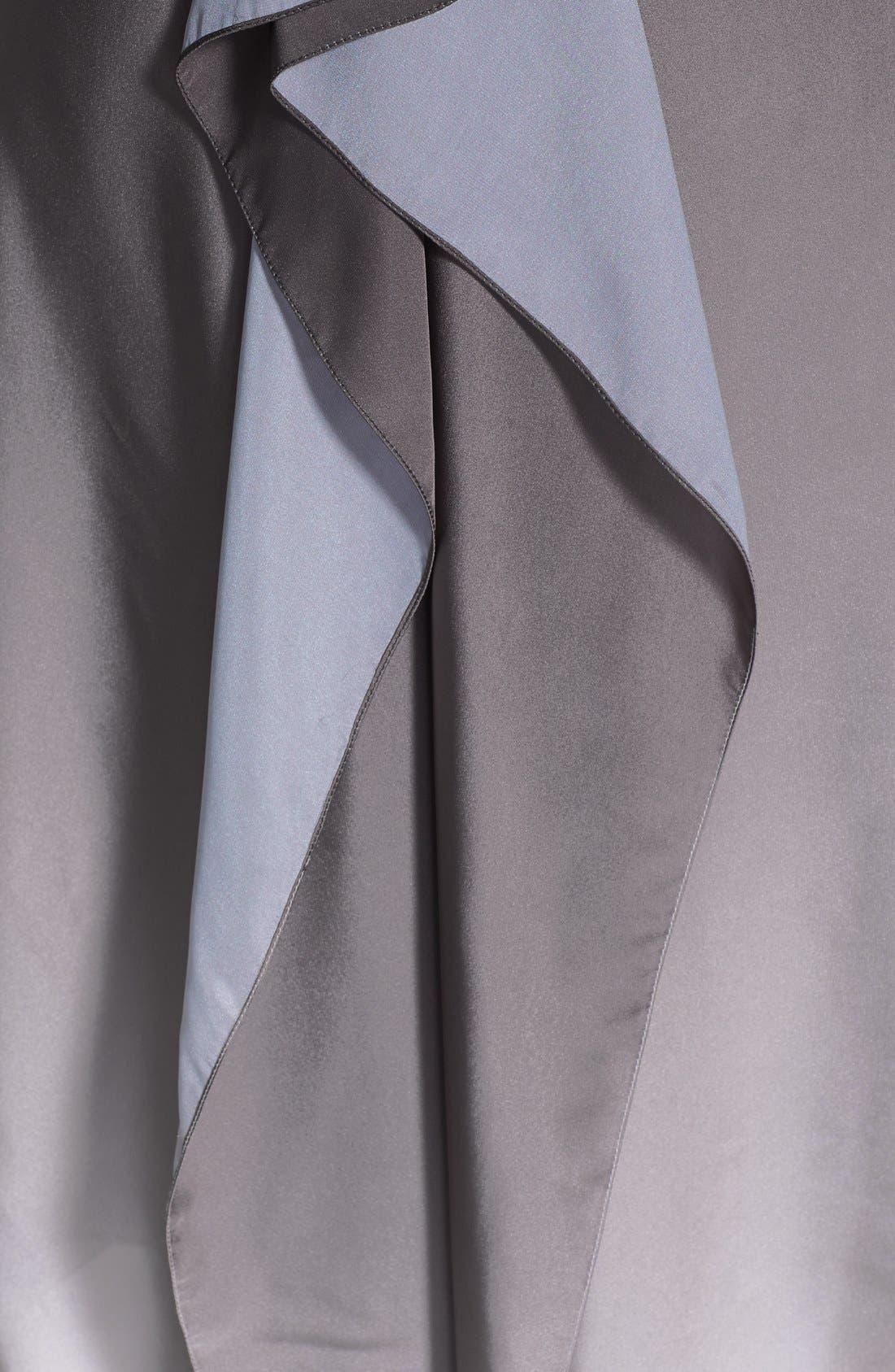Alternate Image 4  - Halston Heritage Ruffle Back Ombré Charmeuse Dress