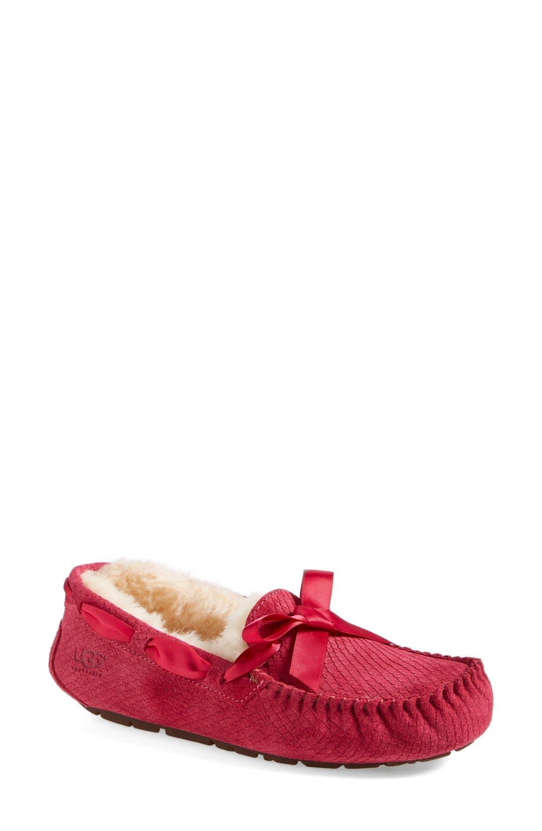 Alternate Image 1 Selected - UGG® Australia 'Dakota - Exotic Scales' Suede Slipper (Women)