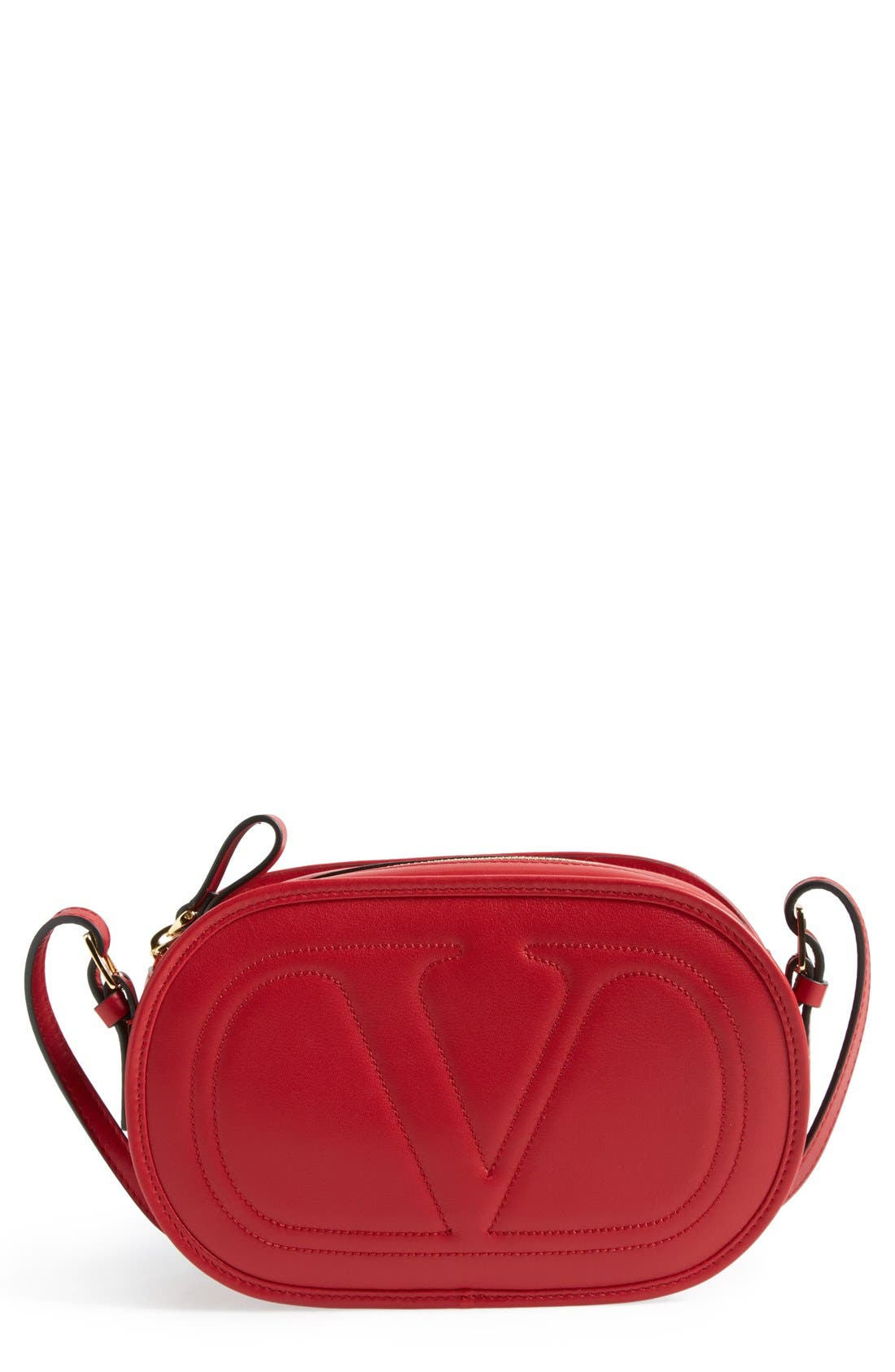 Main Image - Valentino 'Small Logo' Crossbody Bag