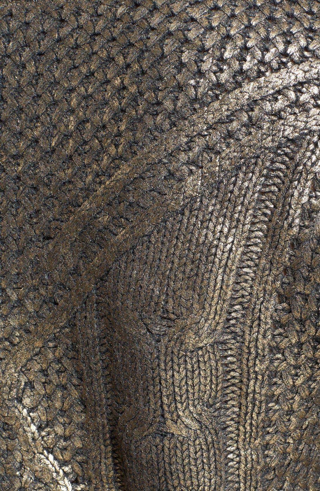Alternate Image 3  - Lucy Paris Coated Crop Sweater