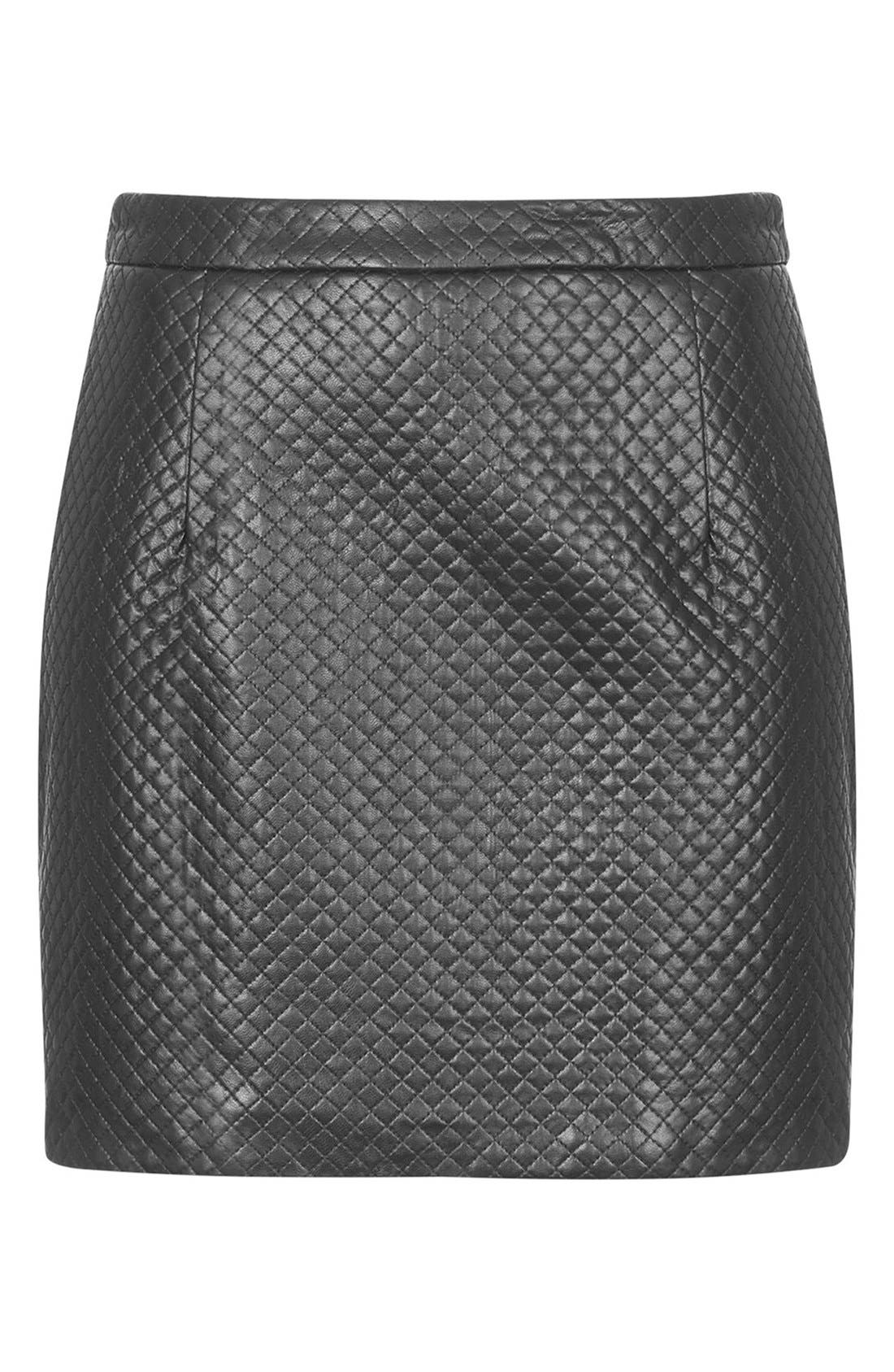 Alternate Image 3  - Topshop Faux Leather A-Line Skirt