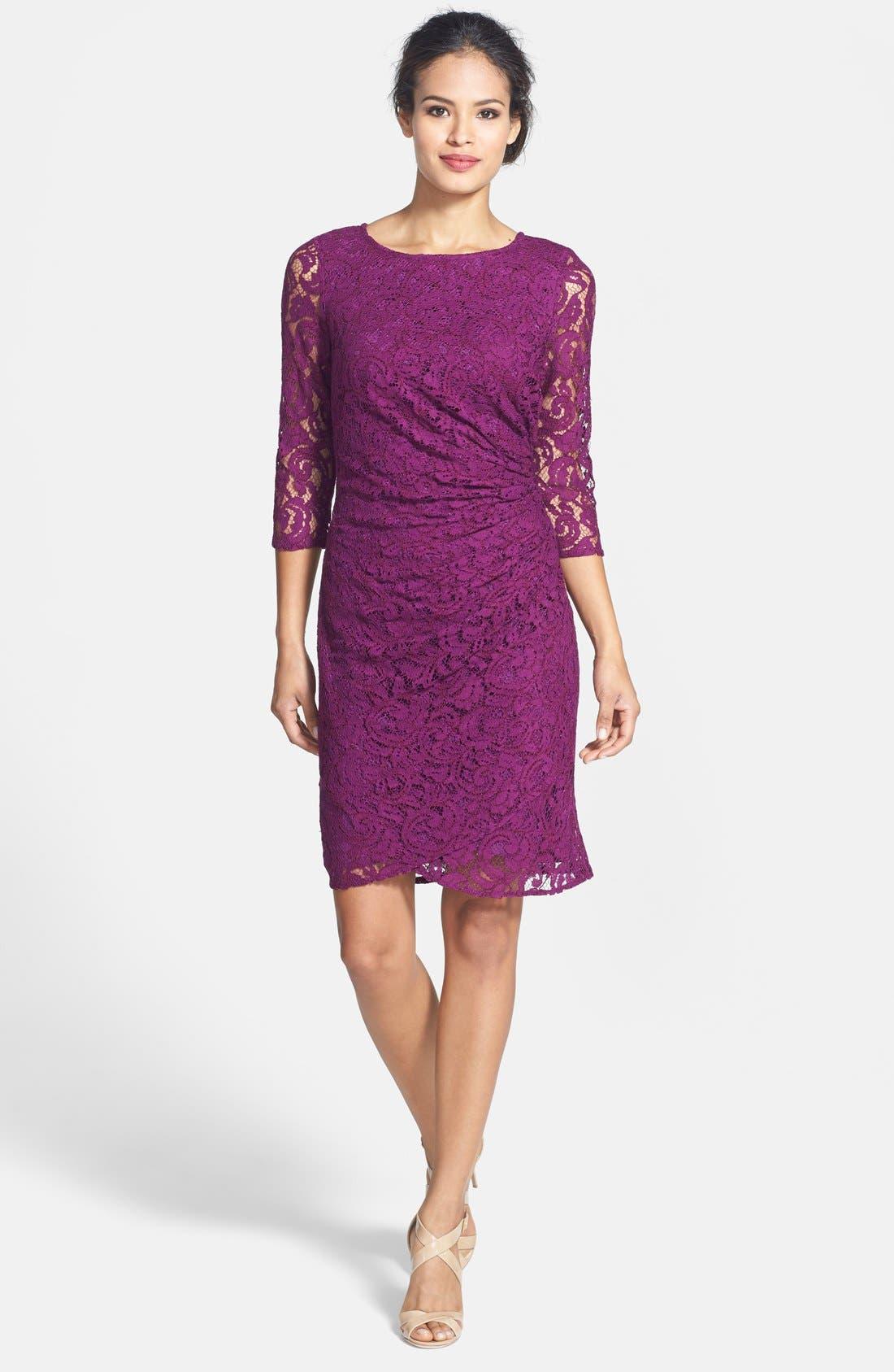 Alternate Image 3  - Adrianna Papell Lace Sheath Dress