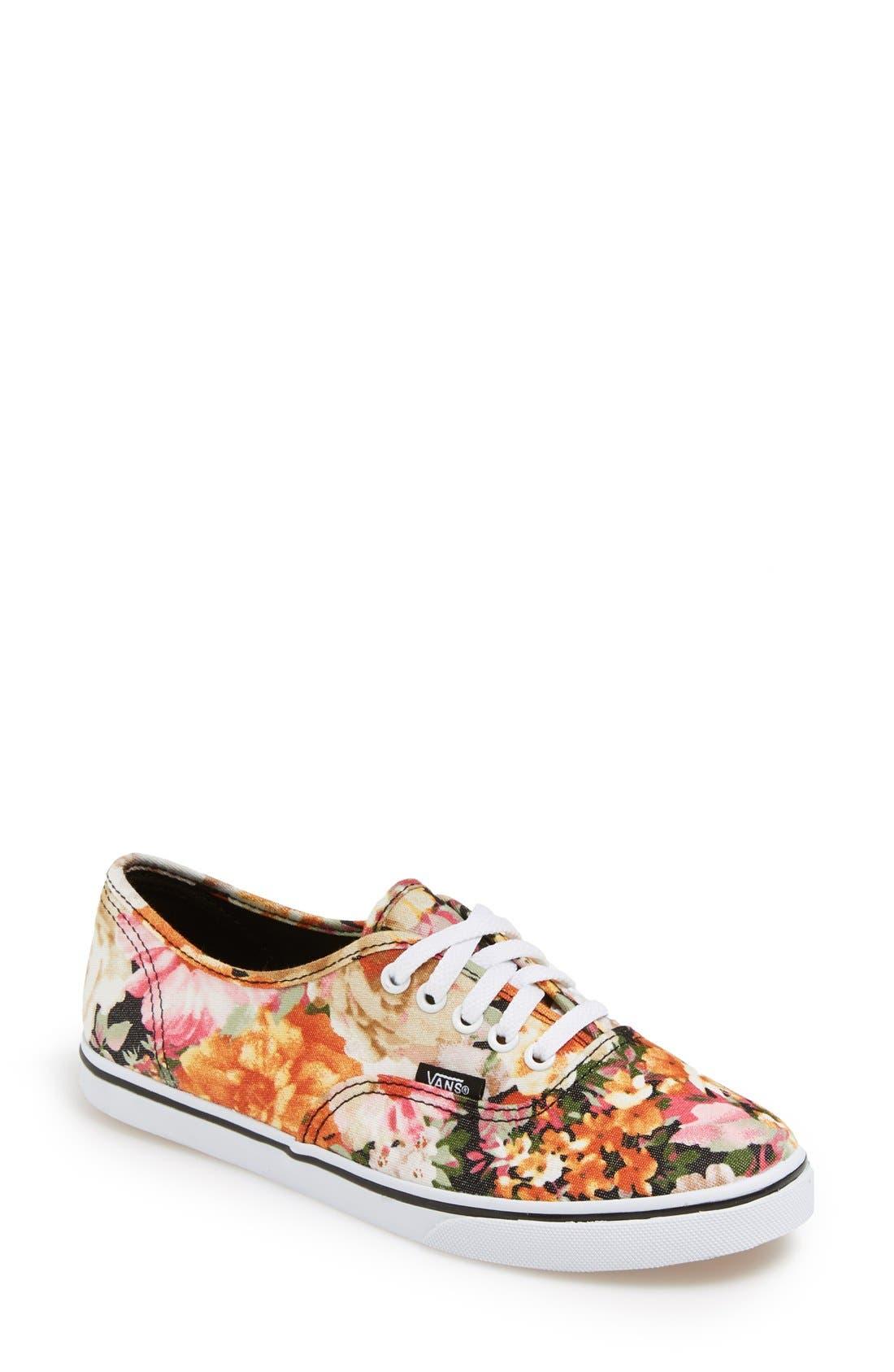 Main Image - Vans 'Authentic Lo Pro - Floral' Sneaker (Women)