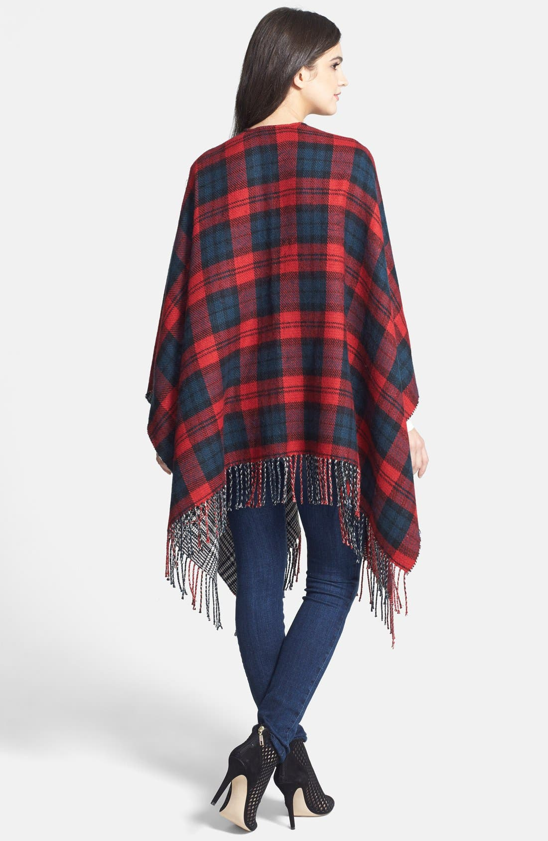 Alternate Image 2  - Accessory Street 'Double Plaid' Reversible Ruana