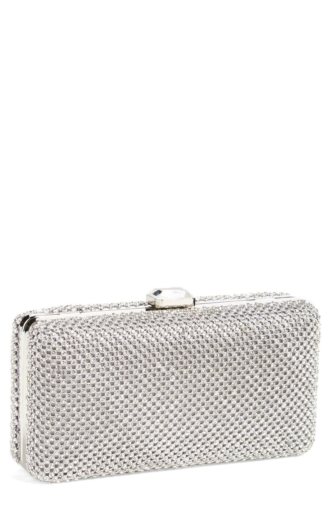 Alternate Image 1 Selected - Sondra Roberts Crystal Mesh Box Clutch