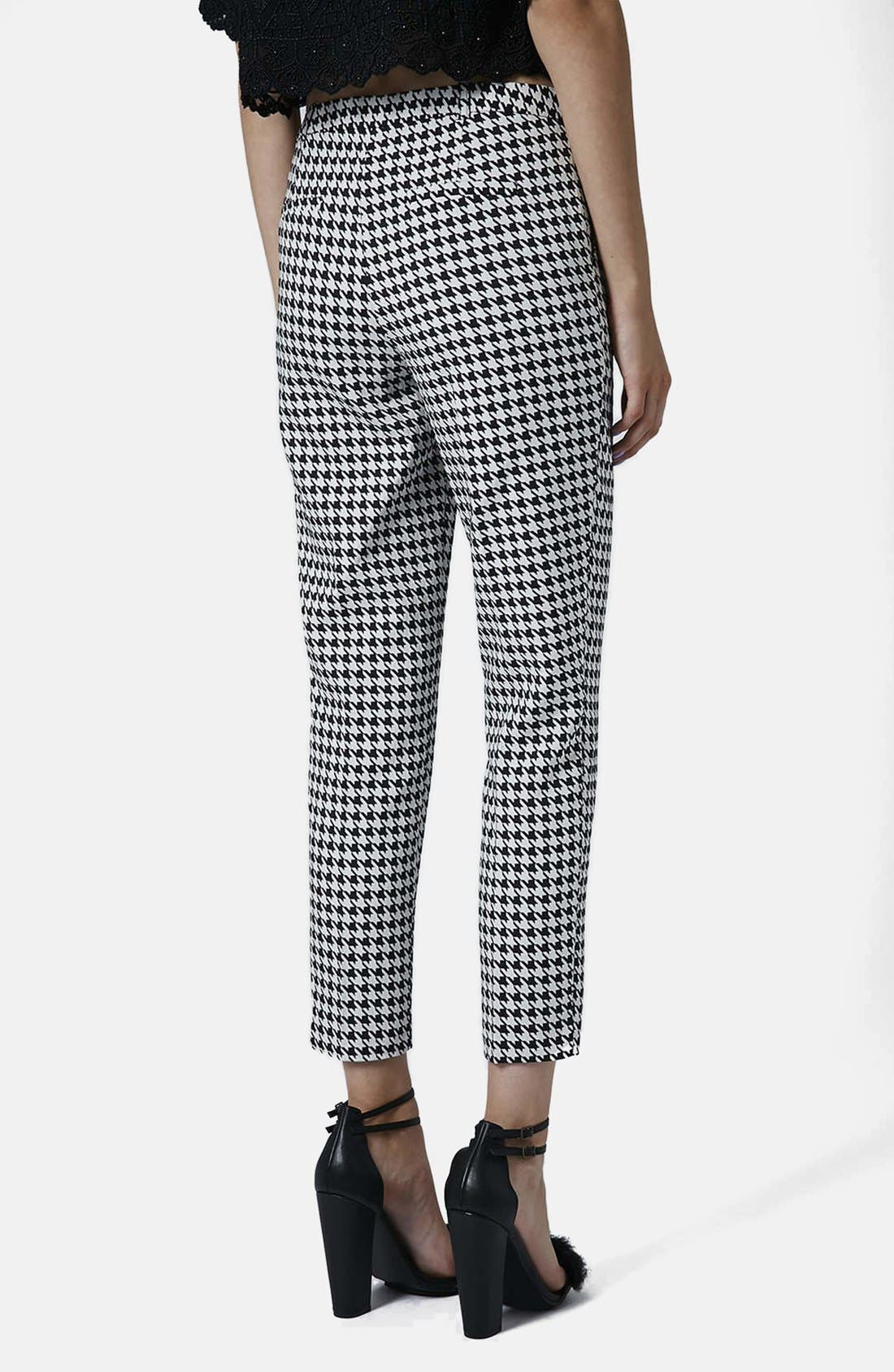 Alternate Image 2  - Topshop Houndstooth Cigarette Trousers