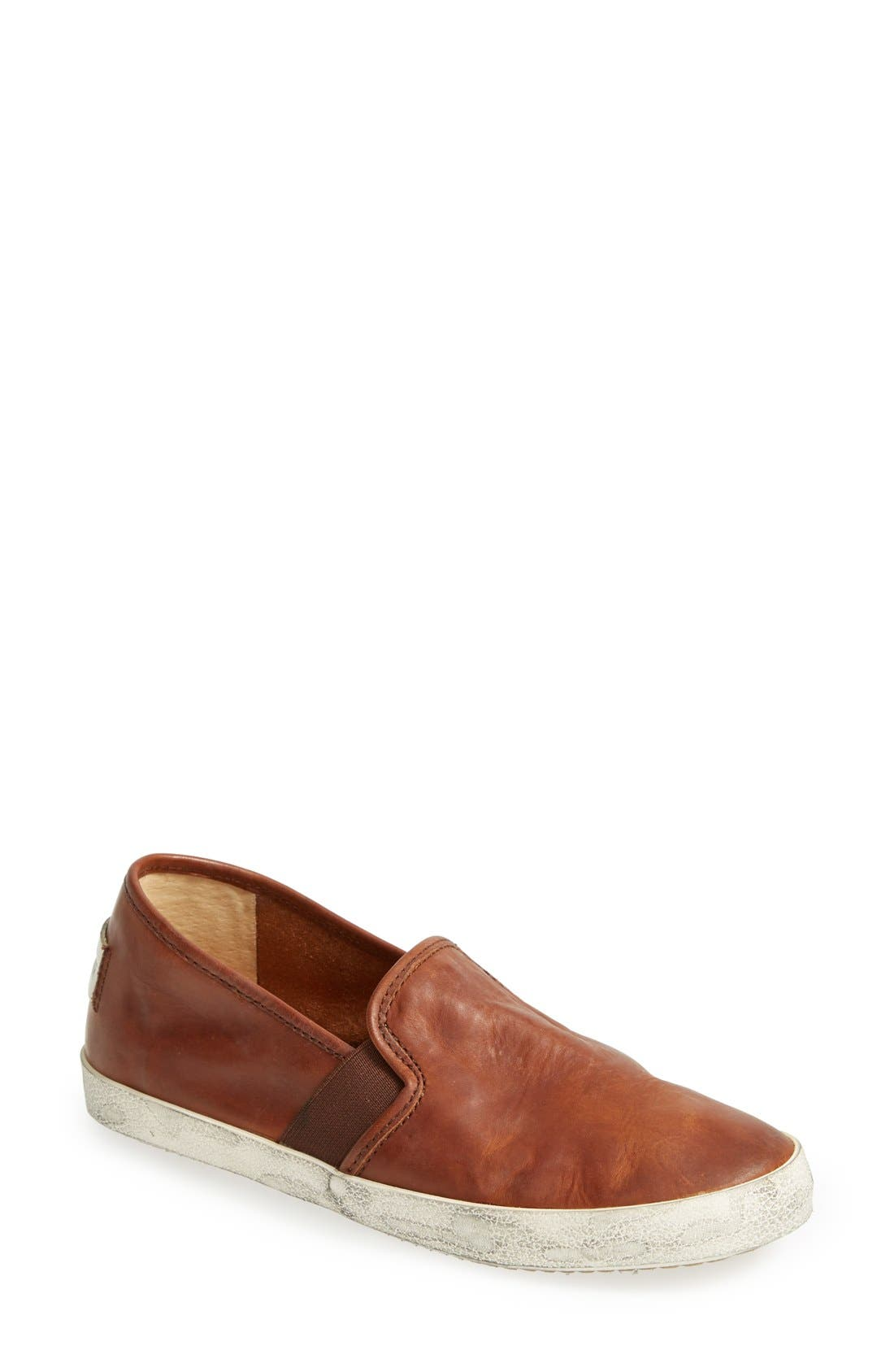 Frye 'Dylan' Leather Slip-On Sneaker (Women)