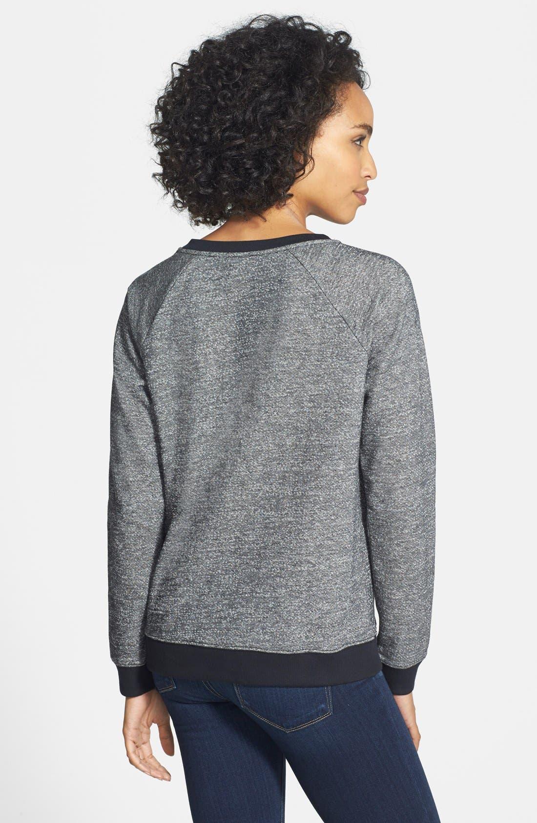 Alternate Image 2  - NYDJ Embroidered Lace Crewneck Sweatshirt