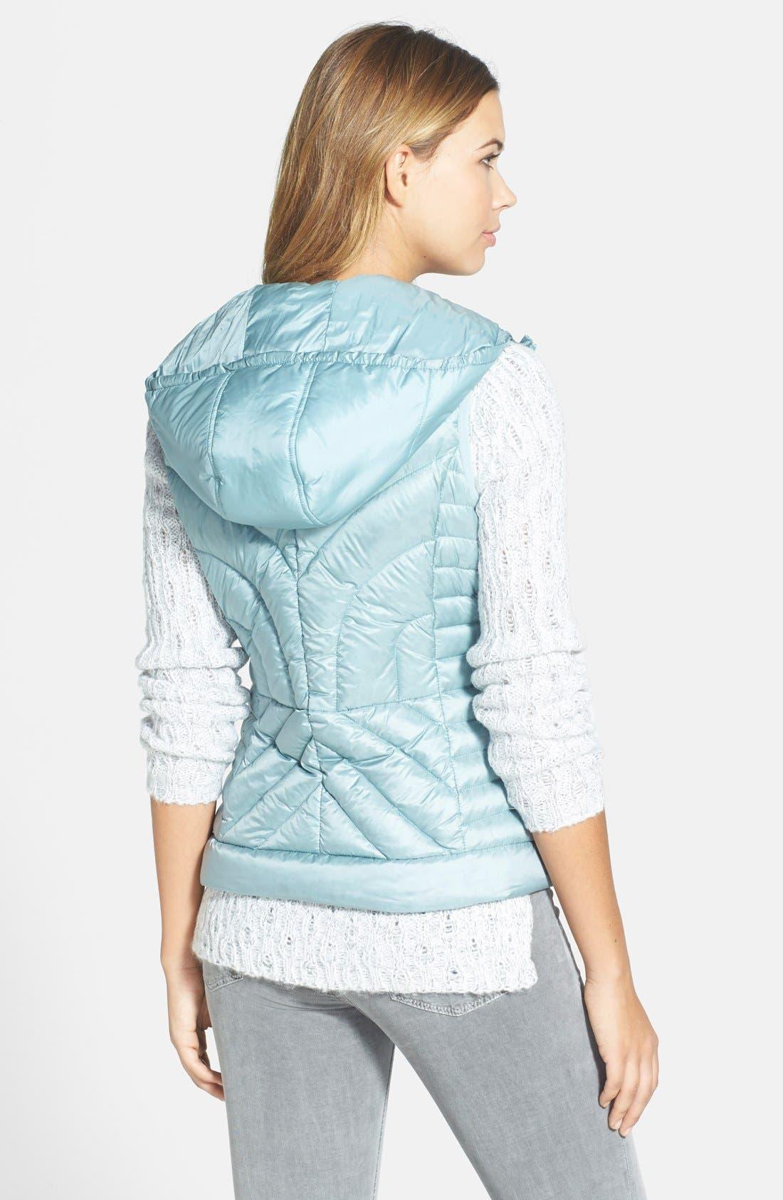 Alternate Image 2  - Bernardo Packable Hooded Goose Down Vest (Regular & Petite)