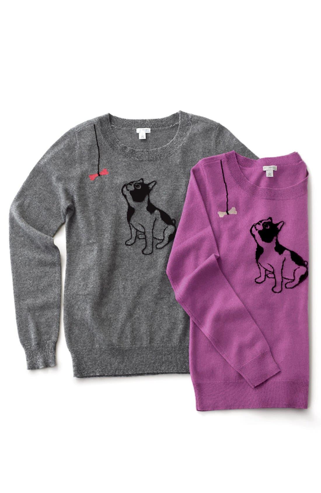 Alternate Image 8  - Halogen® Cashmere Crewneck Sweater (Regular & Petite)