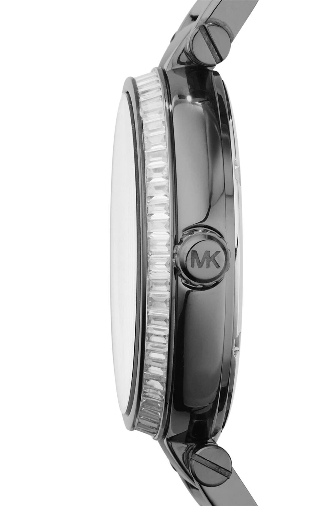 Alternate Image 3  - Michael Kors 'Skylar' Pavé Dial Crystal Bezel Bracelet Watch, 42mm