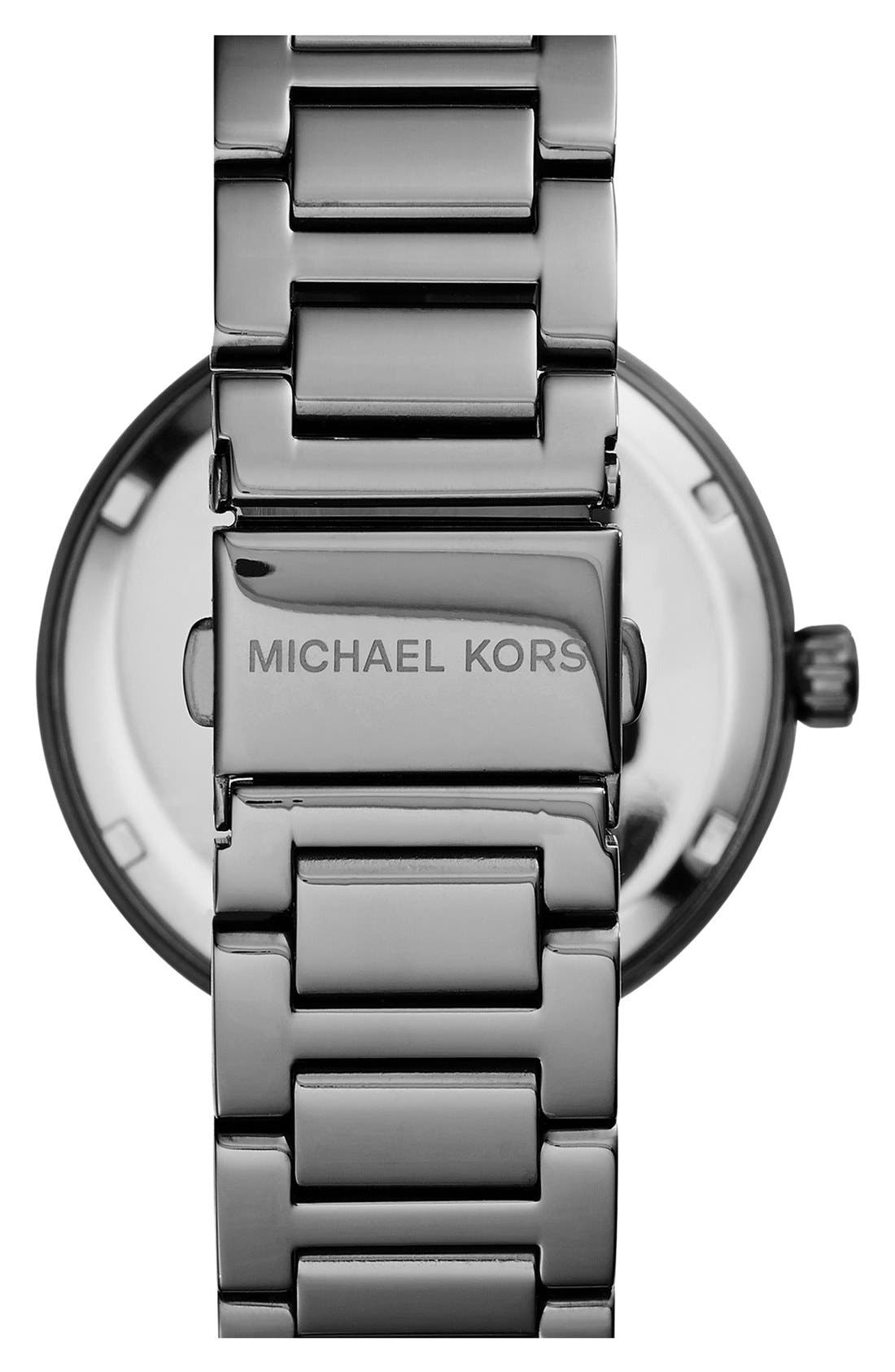Alternate Image 2  - Michael Kors 'Skylar' Pavé Dial Crystal Bezel Bracelet Watch, 42mm