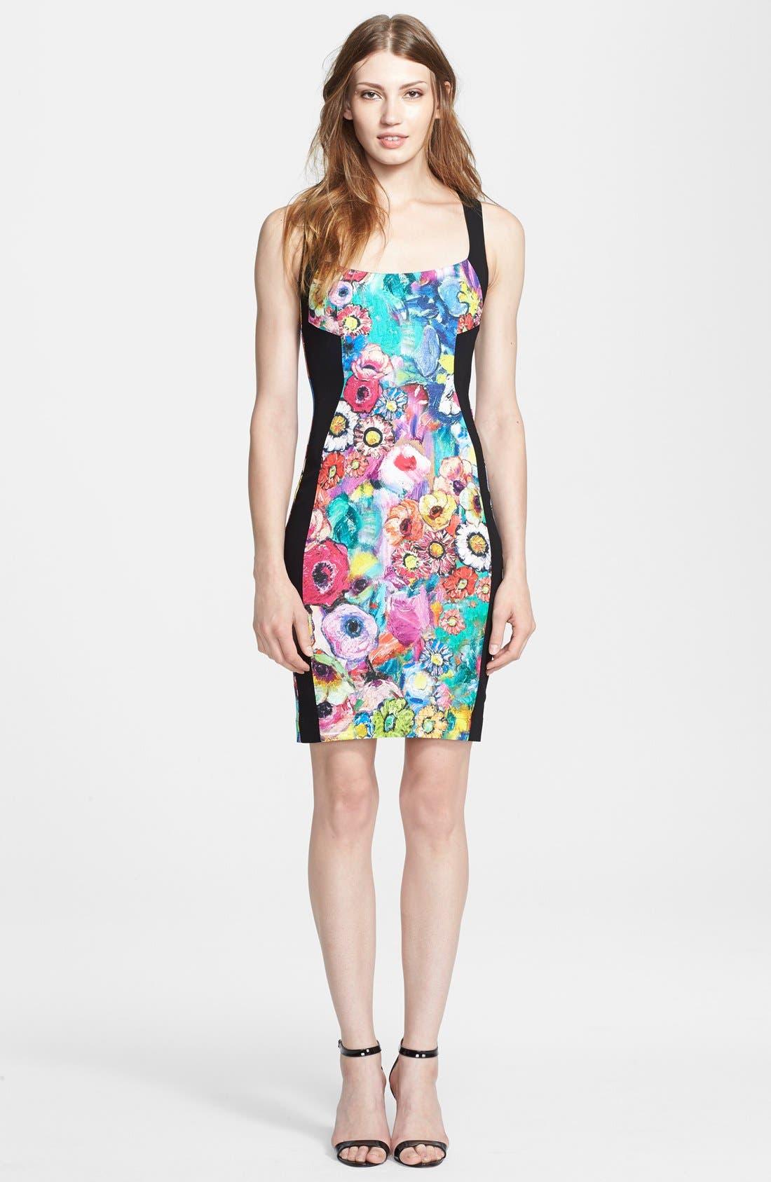 Main Image - Just Cavalli Floral Print Sheath Dress