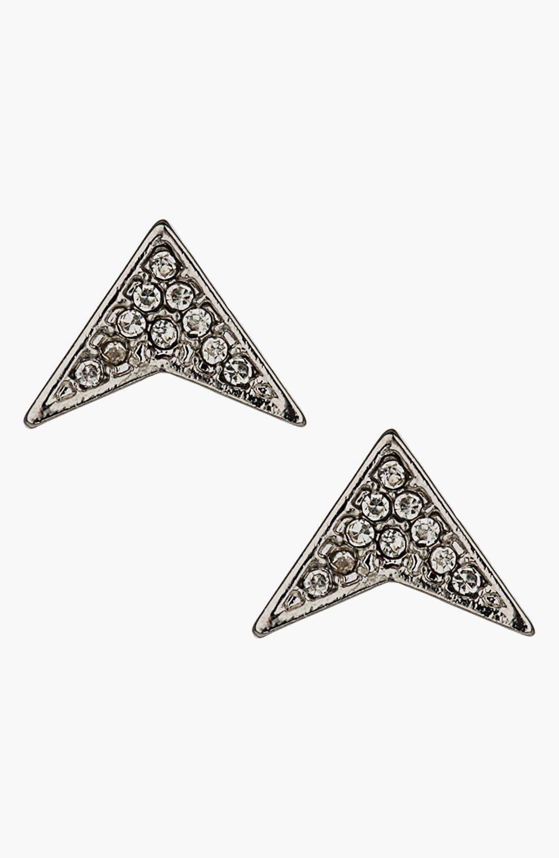 Main Image - Topshop Arrow Rhinestone Stud Earrings