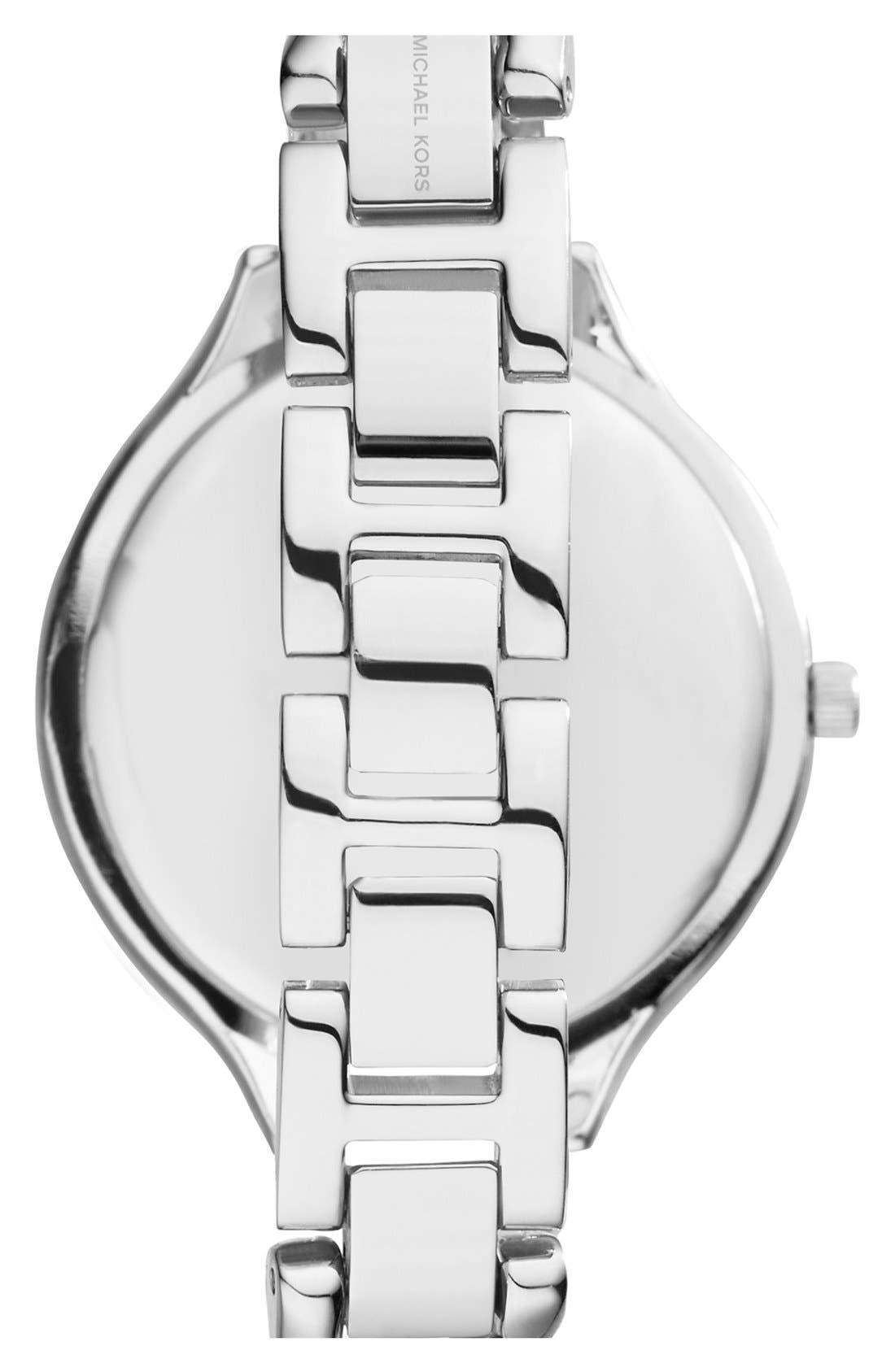 Alternate Image 2  - Michael Kors 'Slim Runway' Chain Bracelet Watch, 42mm