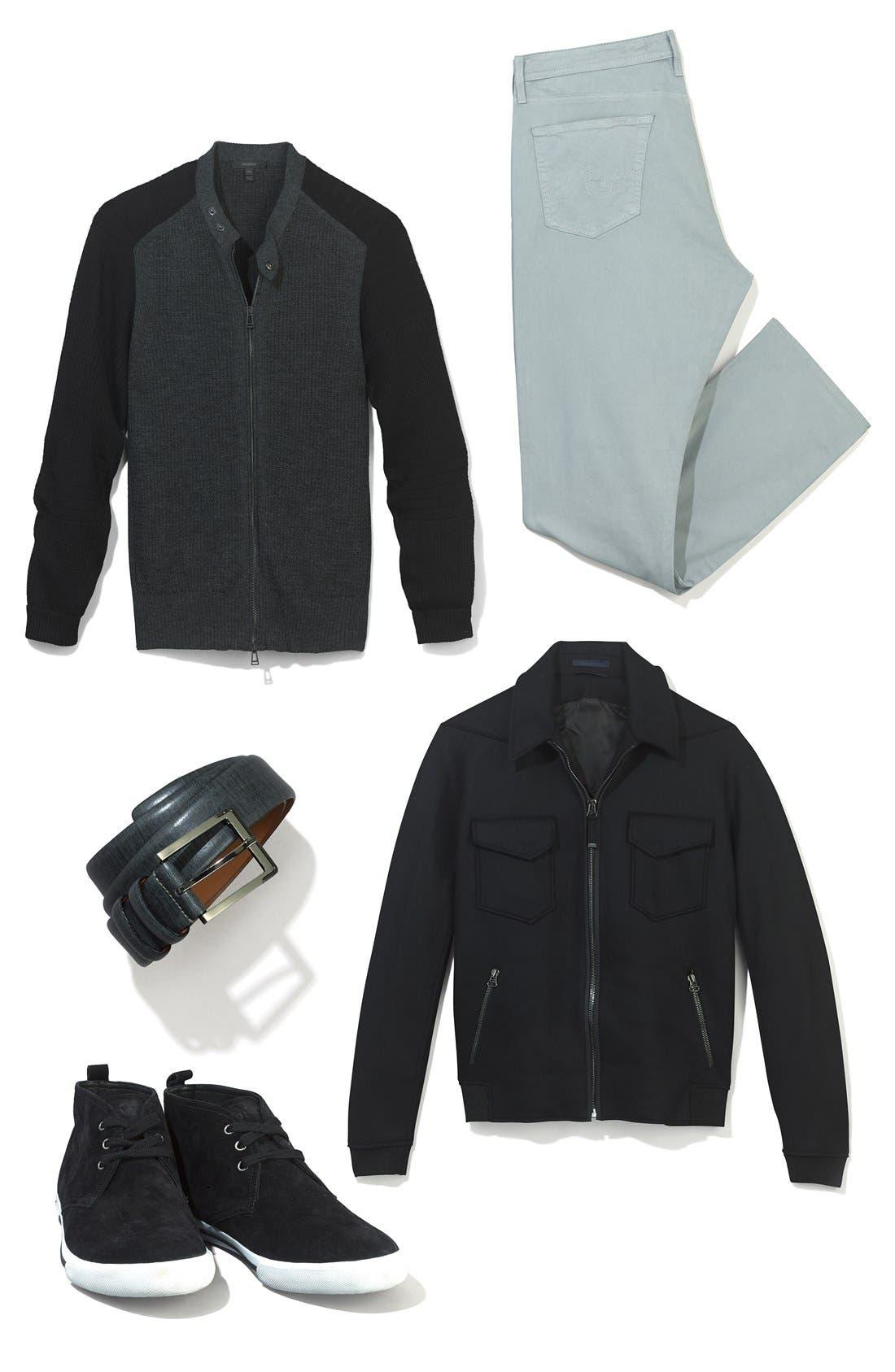 Alternate Image 3  - Trafalgar 'Lorenzo' Leather Belt