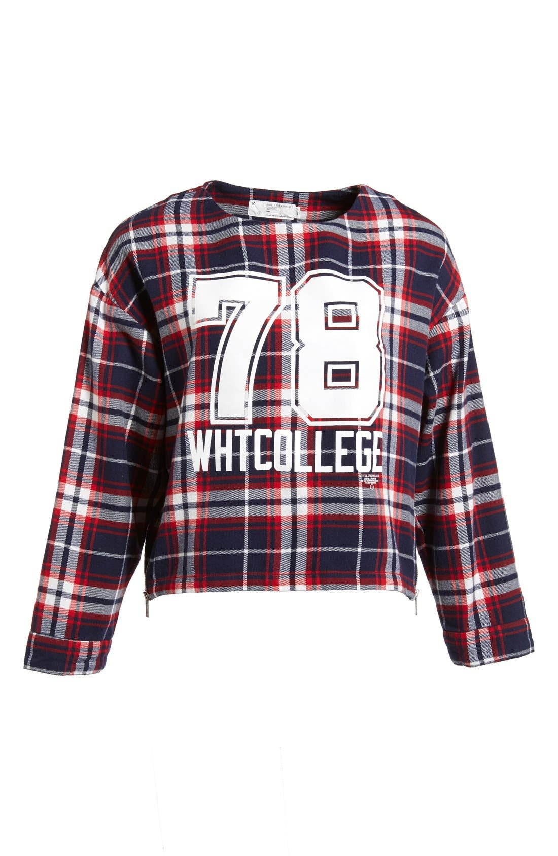 Alternate Image 1  - :CHOCOOLATE '78 Check' Cotton Flannel Shirt (Women)