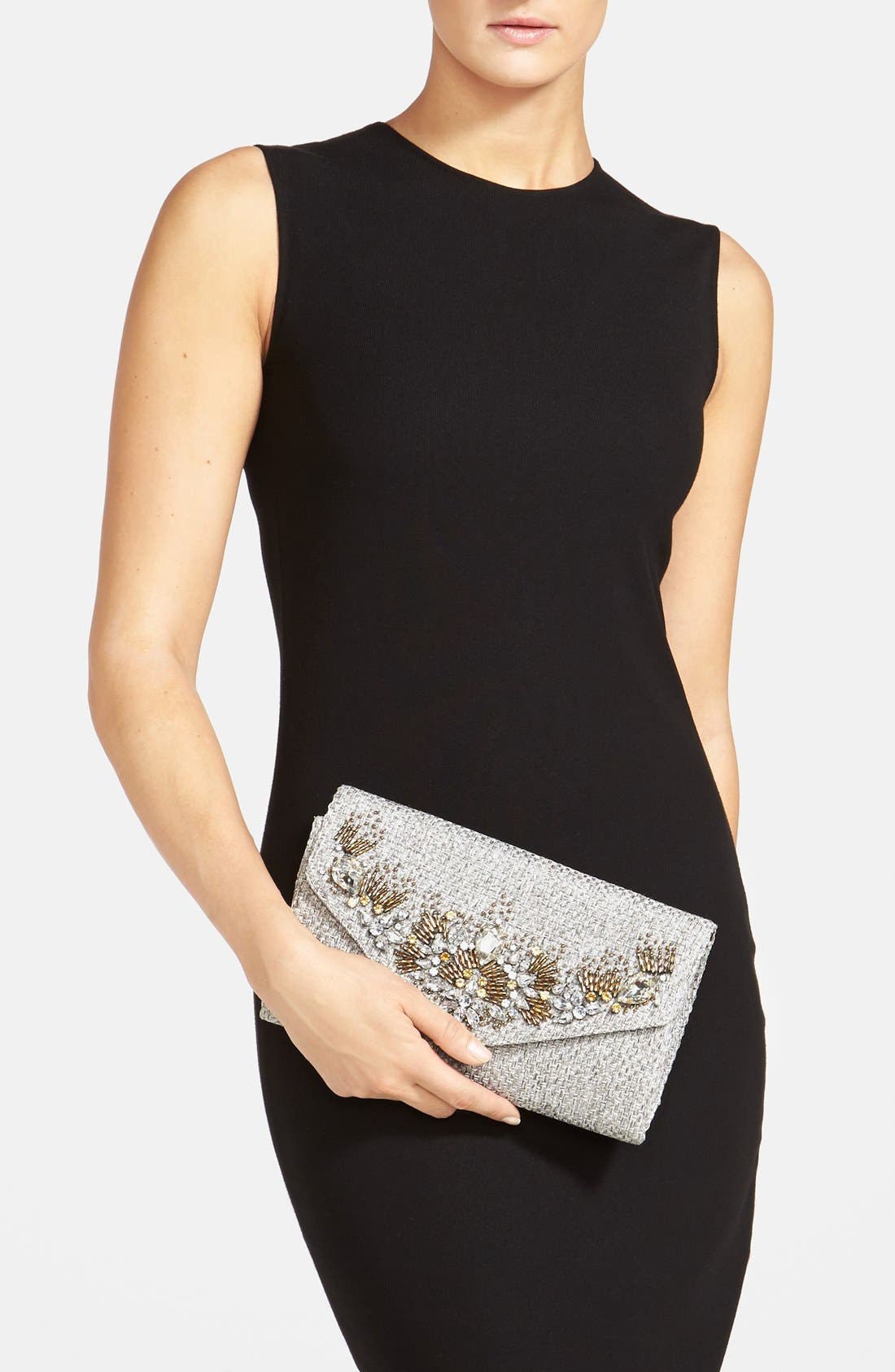Alternate Image 2  - Glint 'Crystallized' Envelope Clutch